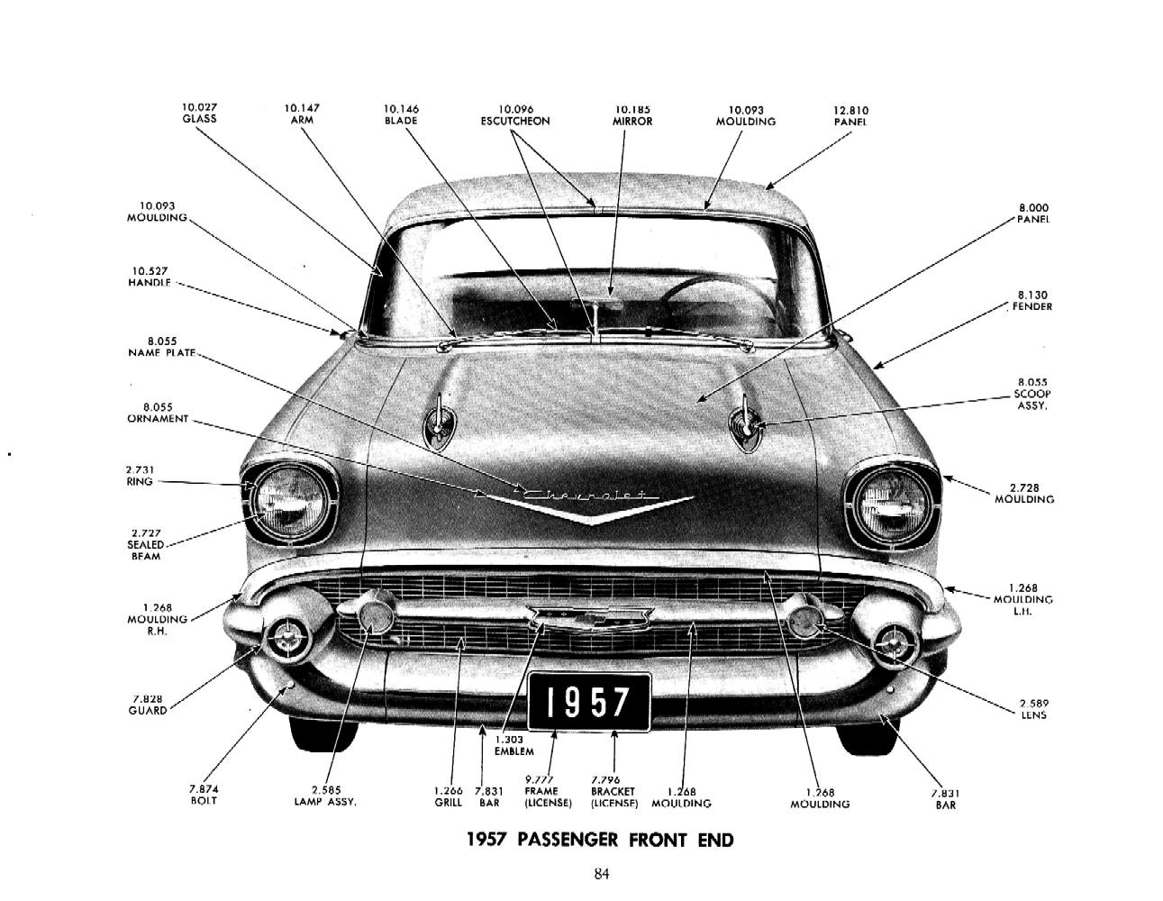 1957 chevy parts manual