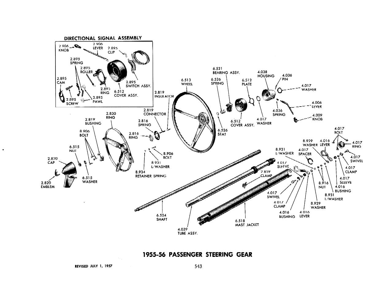 gm steering column diagram