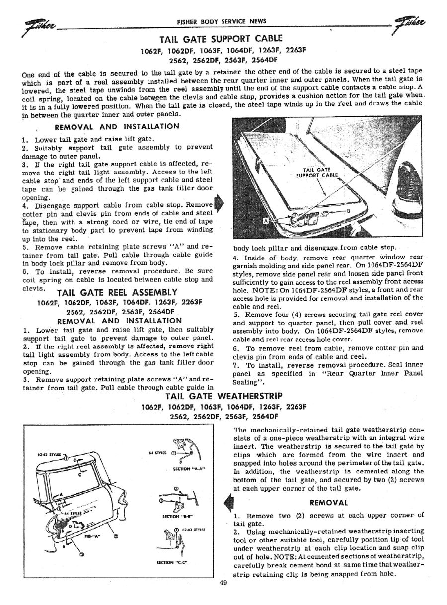 57 Wagon Tailgate Cable Reel Mounting Location 1955 Bel Air Chevy Diagram Http Chevyoldcarmanualprojectcomn0508indexhtm