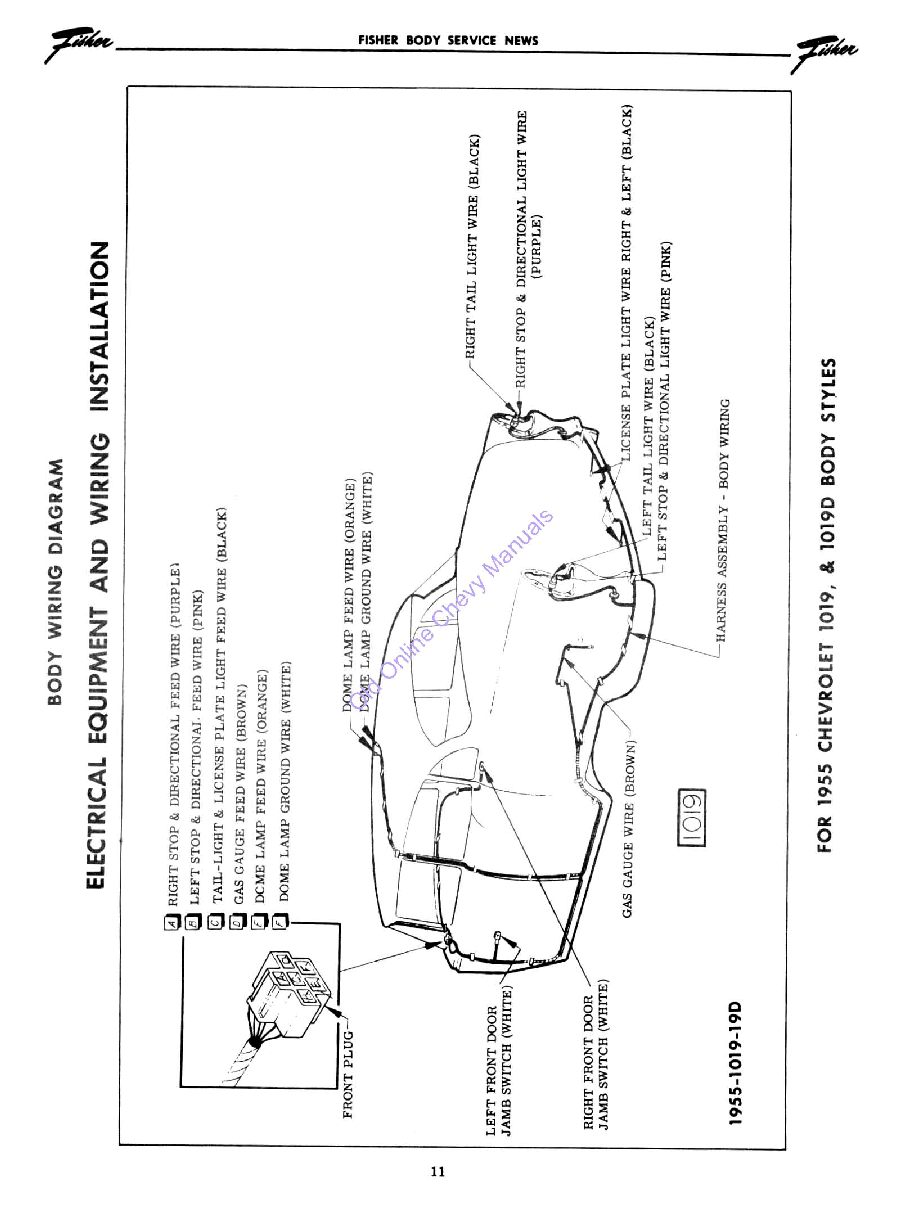 55 chevy color wiring diagram trifive 1955 1956 55 chevy generator wiring diagram wire routing to courtesy light & dash - trifive.com, 1955 chevy 1956 chevy 1957 chevy forum ... #7