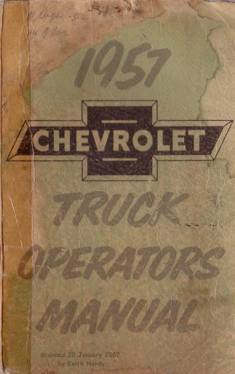 chevy truck owners manual free