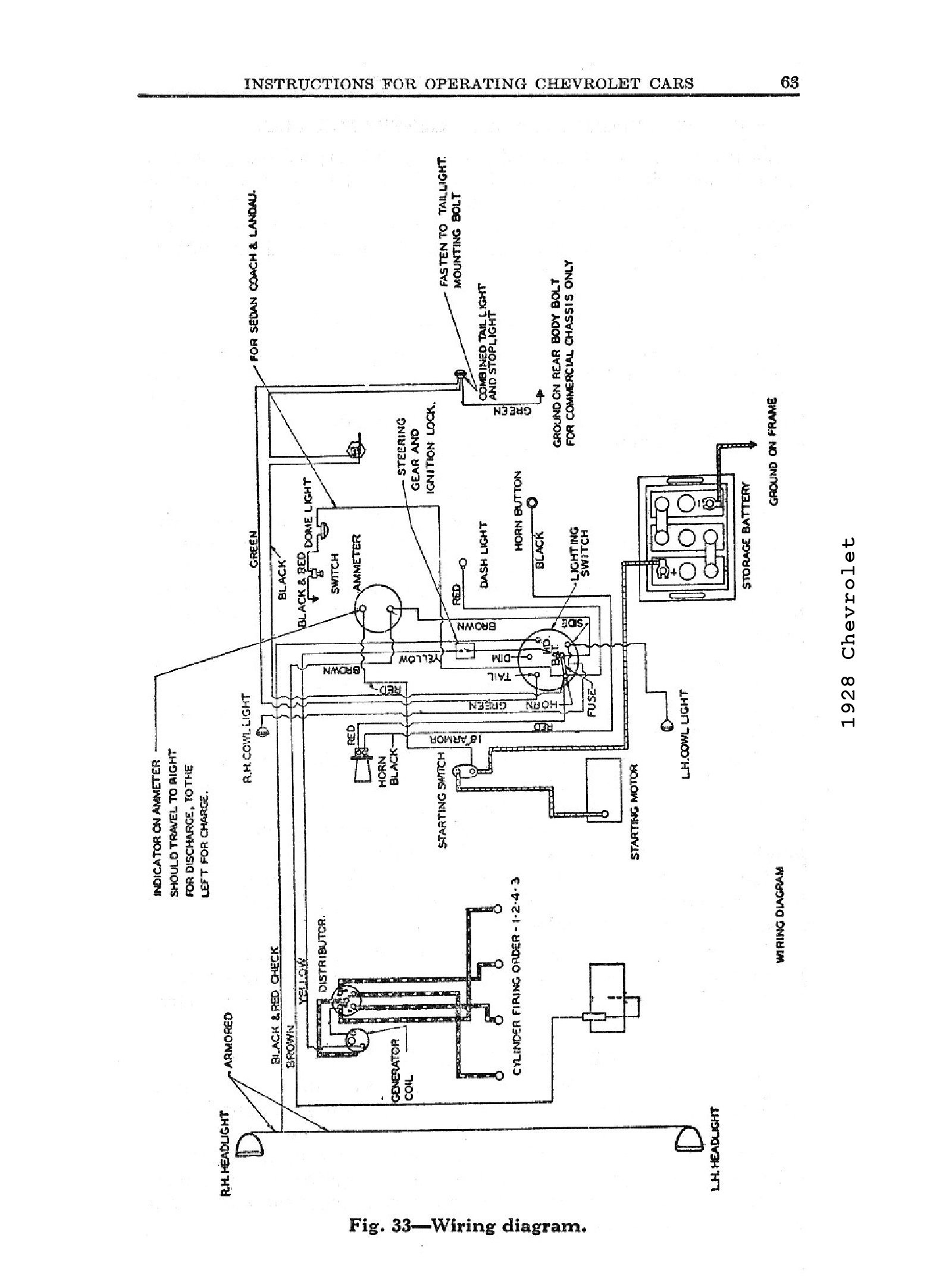 chevy wiring diagrams Mercruiser Coil Wiring Diagram 1928, 1928 wiring diagrams � 1928 general wiring