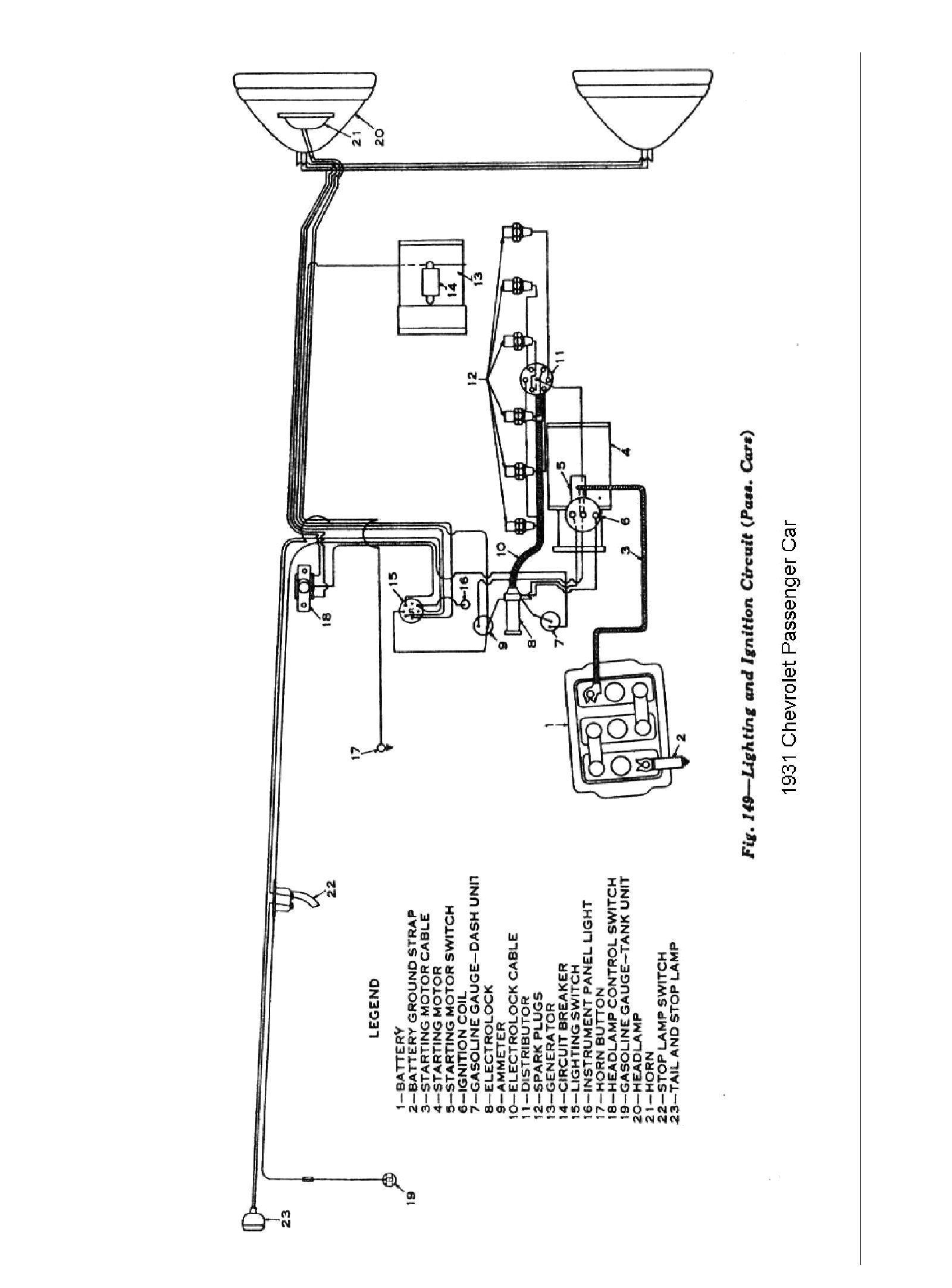 1931 Model A Wiring Diagram on 1932 chevrolet brake parts