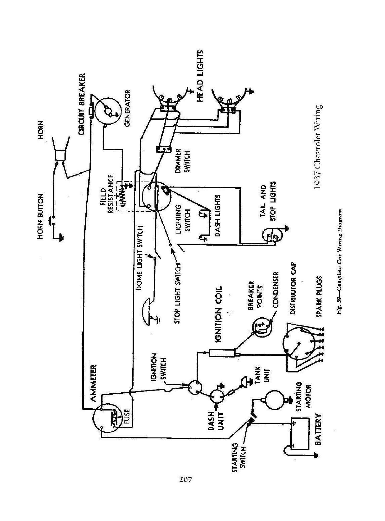Wiring Diagram For A 1937 Chevy Truck Libraries Kia Sorento D4cb Engine Diagrams Chevrolet Third Level1937 Todays 1947
