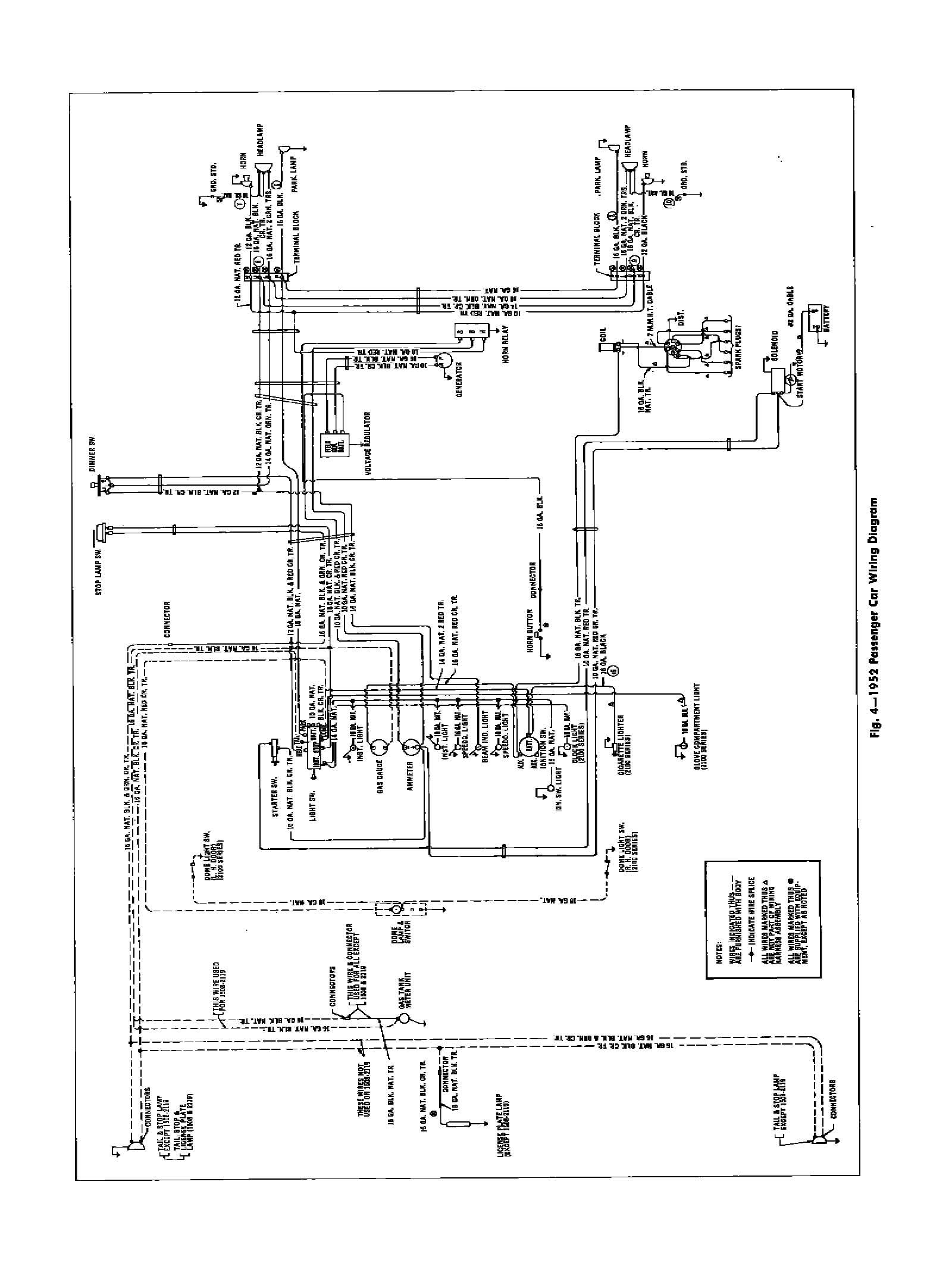 52car  Chevy Ignition Switch Wiring Diagram on