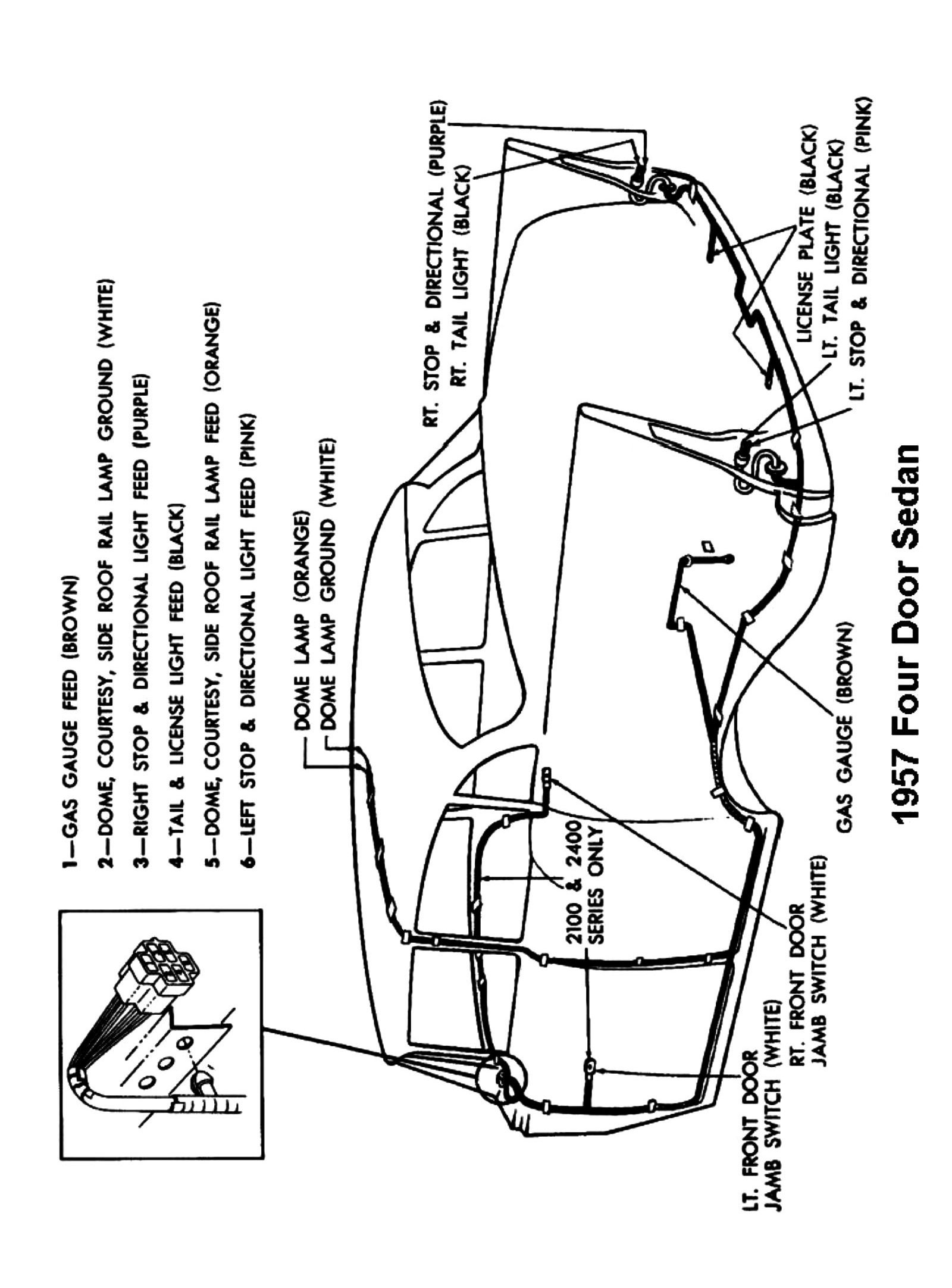 1957 Sedan 4-door Body Wiring