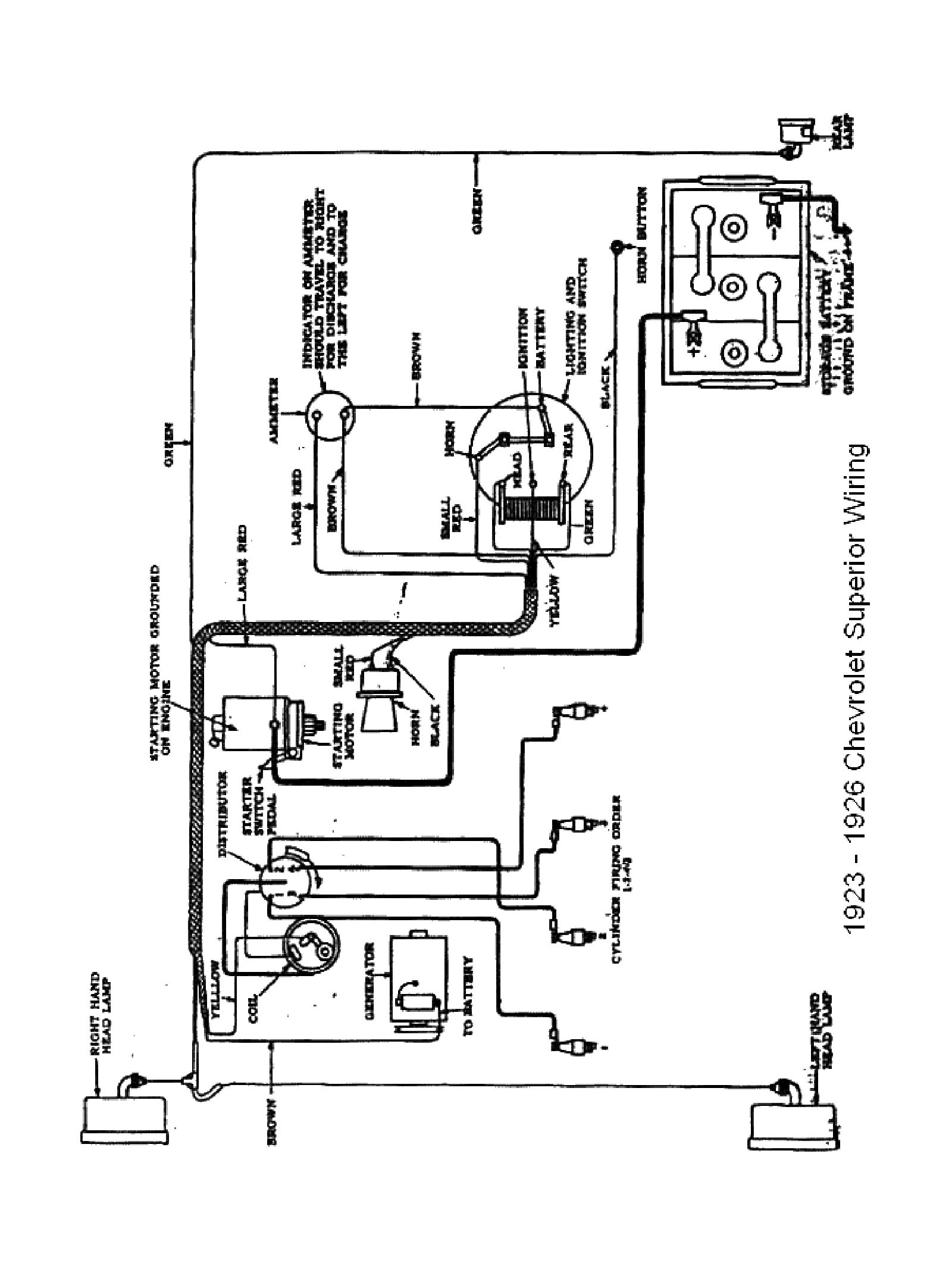 chevy wiring diagrams GM Starter Wiring 1923 superior model 1923 superior model