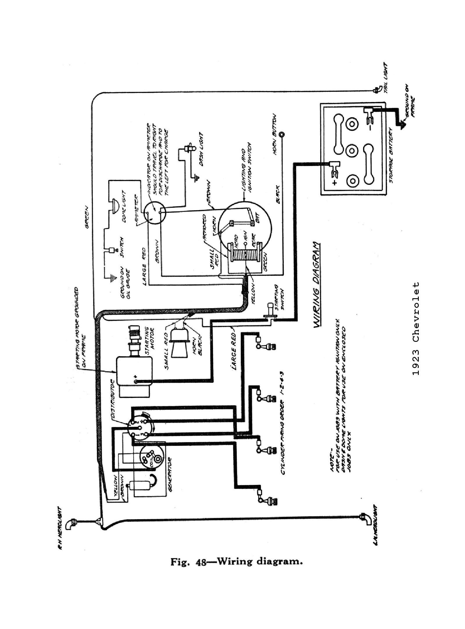 chevy wiring diagrams 1923 1923 car wiring