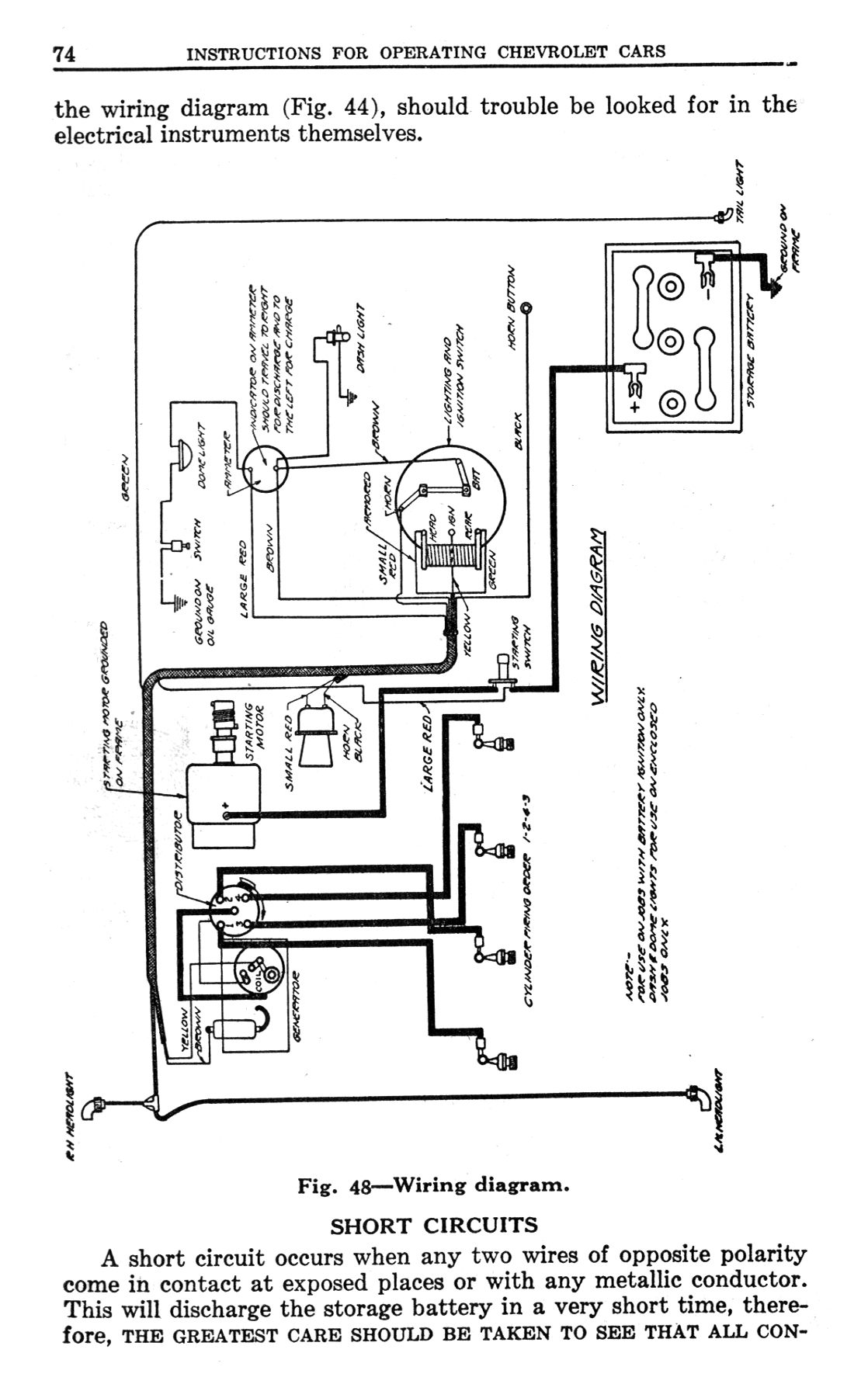 Chevy Wiring Diagrams Short Circuit Diagram 1923 General
