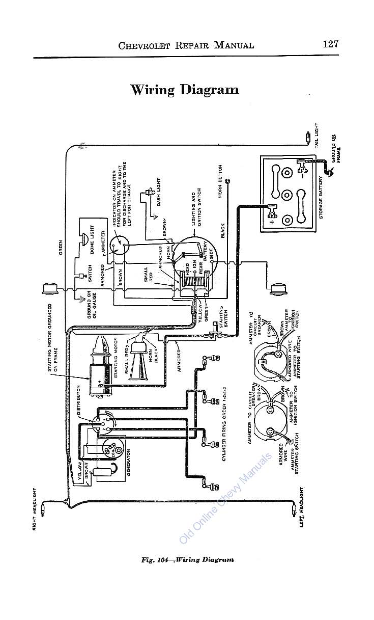 1950 Chevy Fuse Box Diagram Simple Wiring 2005 Ford F750 Diagrams Colorado 1925 Superior Model Series K