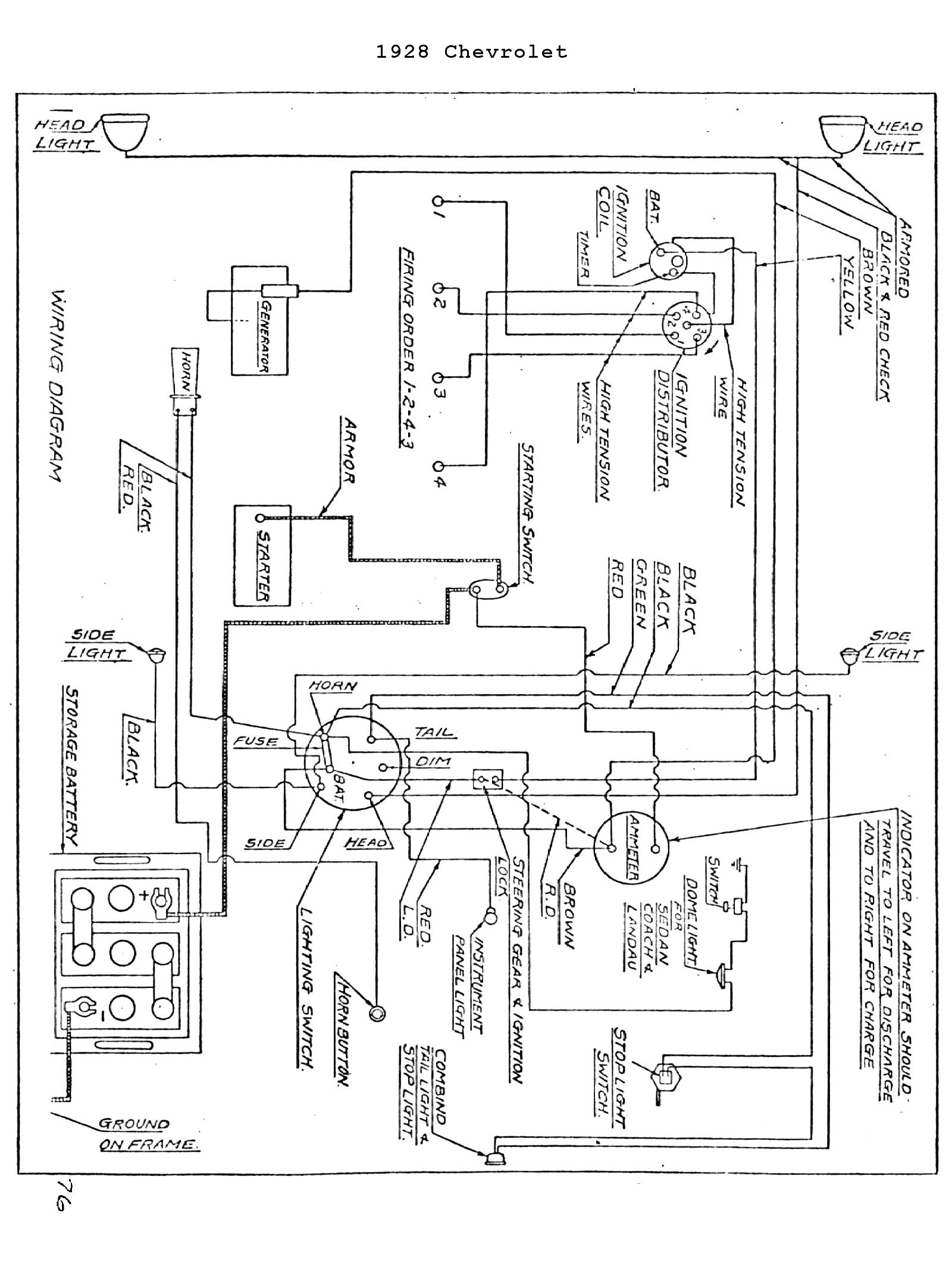 1928 Chevy Wire Diagram Wiring Schematic Jeep Wrangler Steering Column Diagrams Automotive