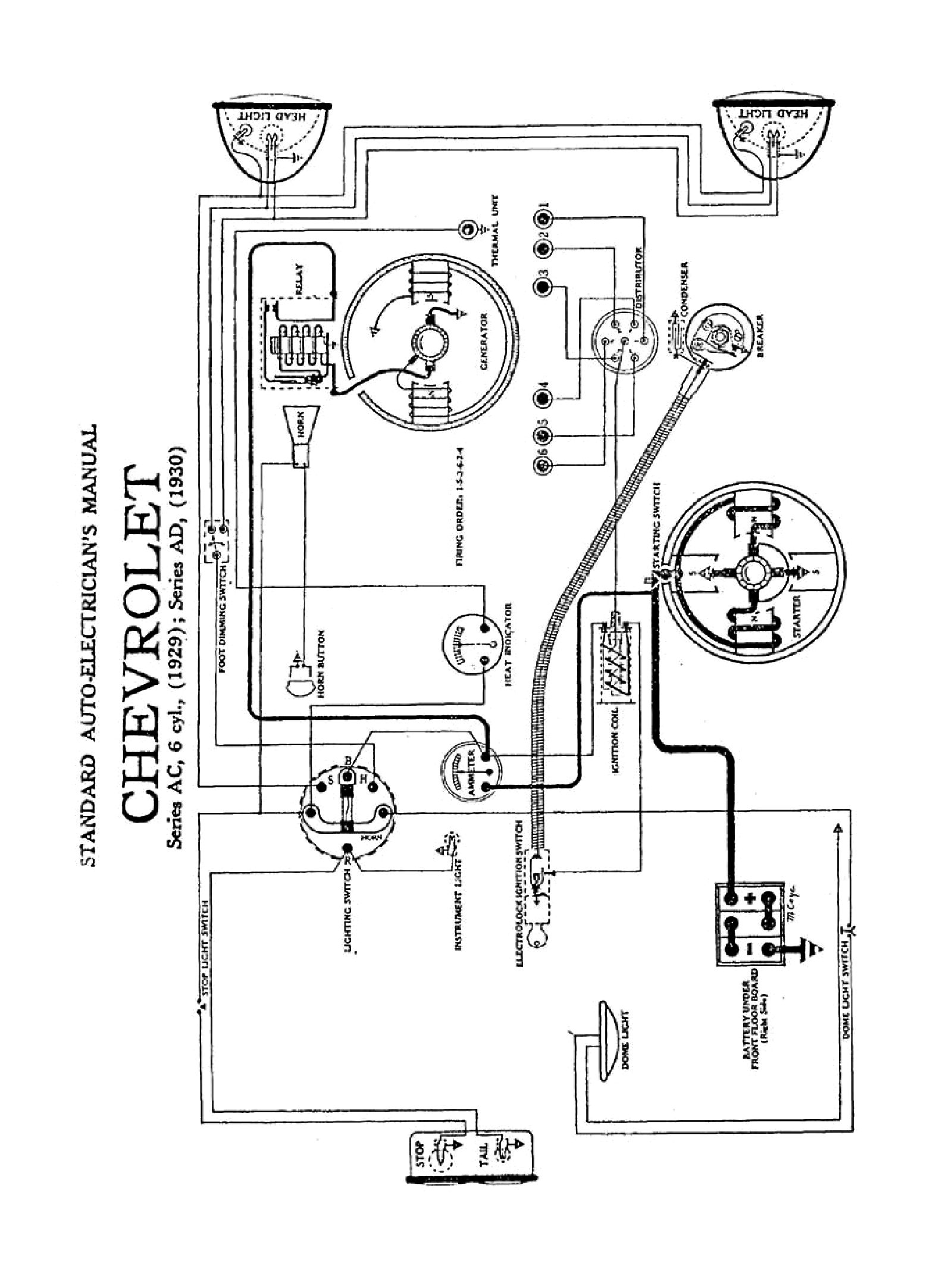 Chevy Wiring Diagrams Nissan Firing Order Diagram 1929 Series Ac Model