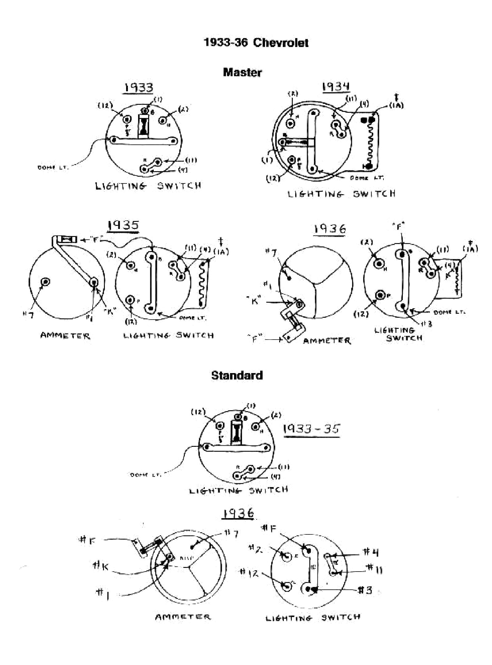 Chevy Wiring Diagrams Gm Starter Motor 1933 Switches