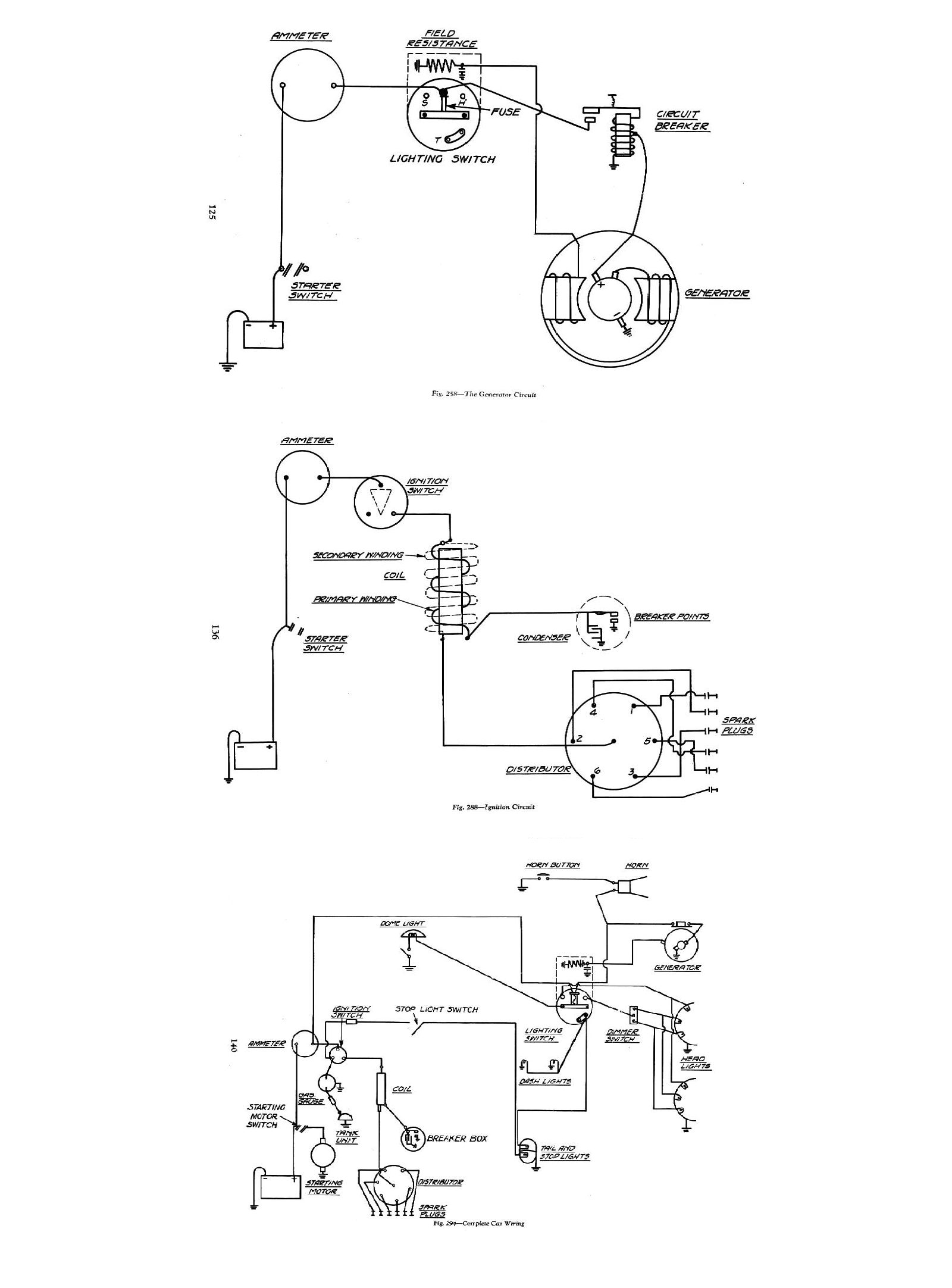 chevy wiring diagrams1934, 1934 wiring diagrams · 1934 general wiring · 1934 generator circuit