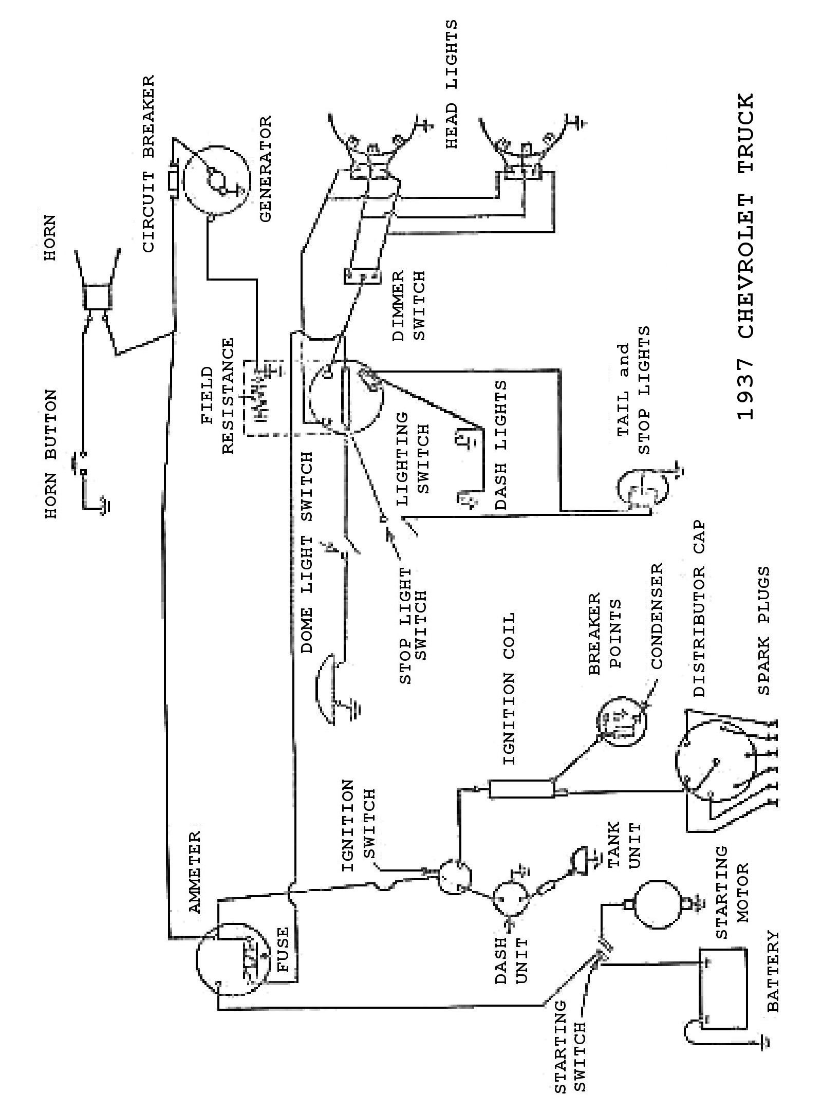 Chevy Wiring Diagrams 4 Conductor Pickup 1937 Truck