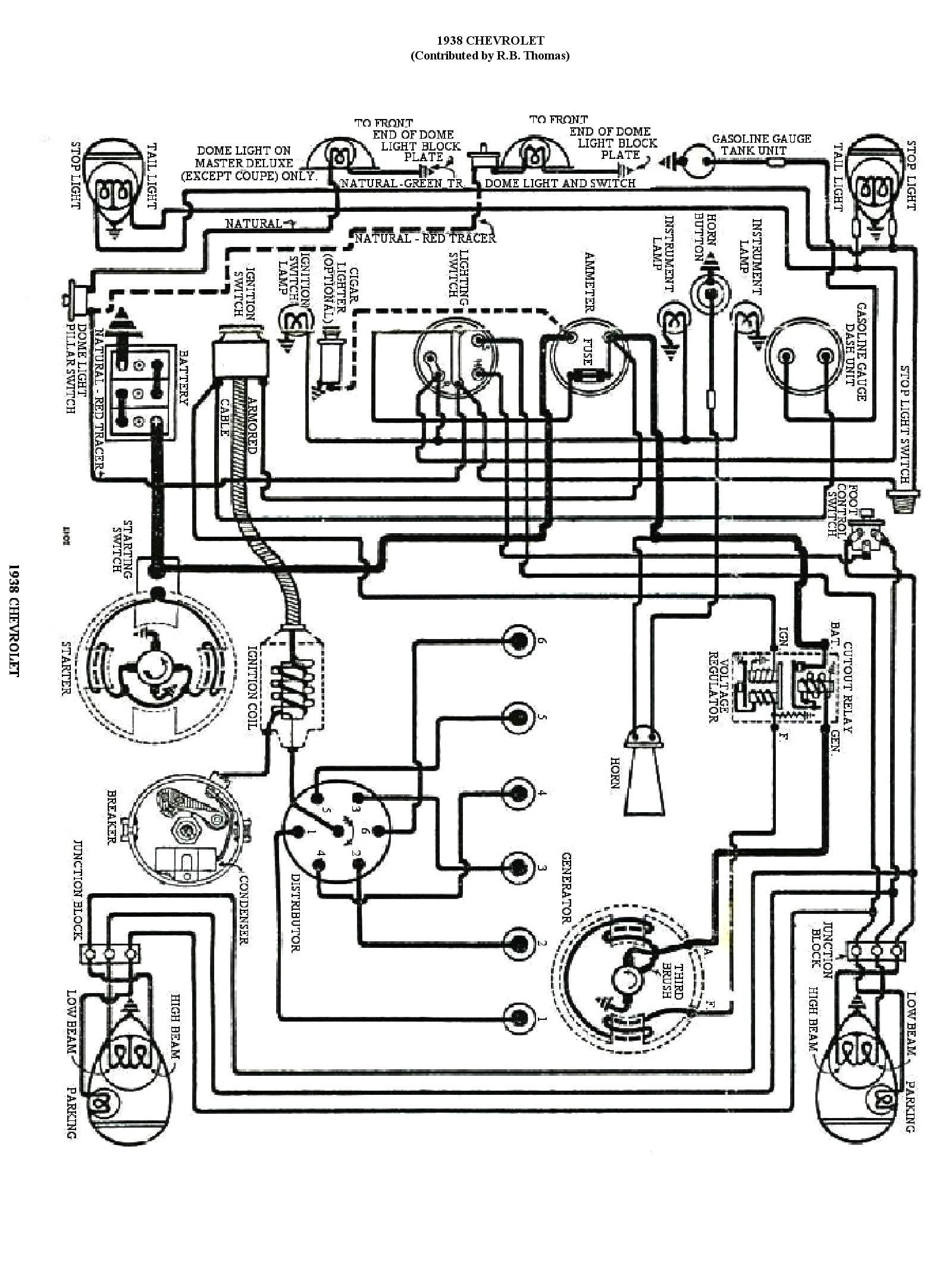 1938 chevy wiring diagram