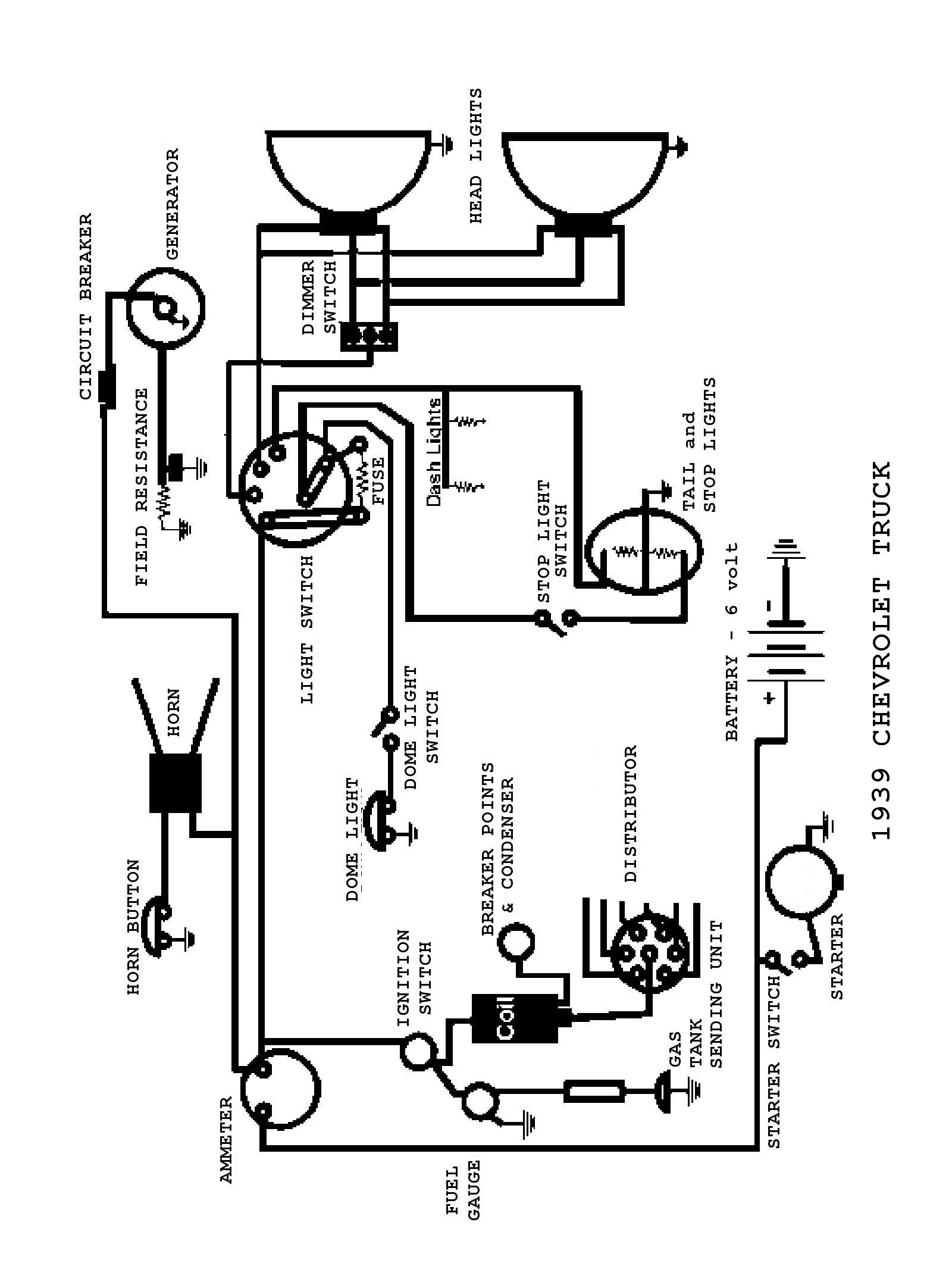 Chevy Wiring Diagrams Basic Lights 1939 Truck