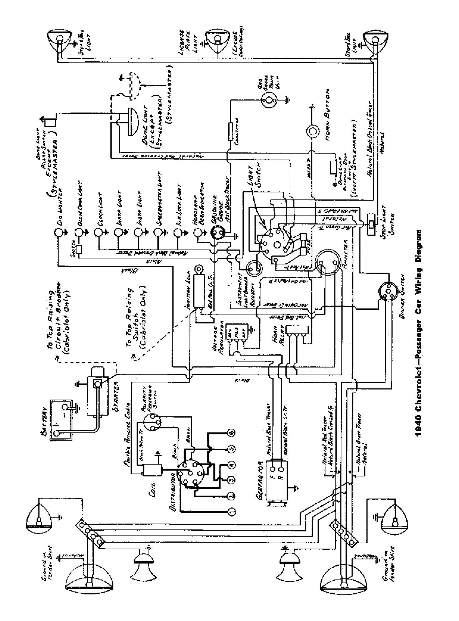 Chevy Wiring Diagrams Panel From Tail Light Diagram Lights Fuse To 1975 1940 Passenger Car