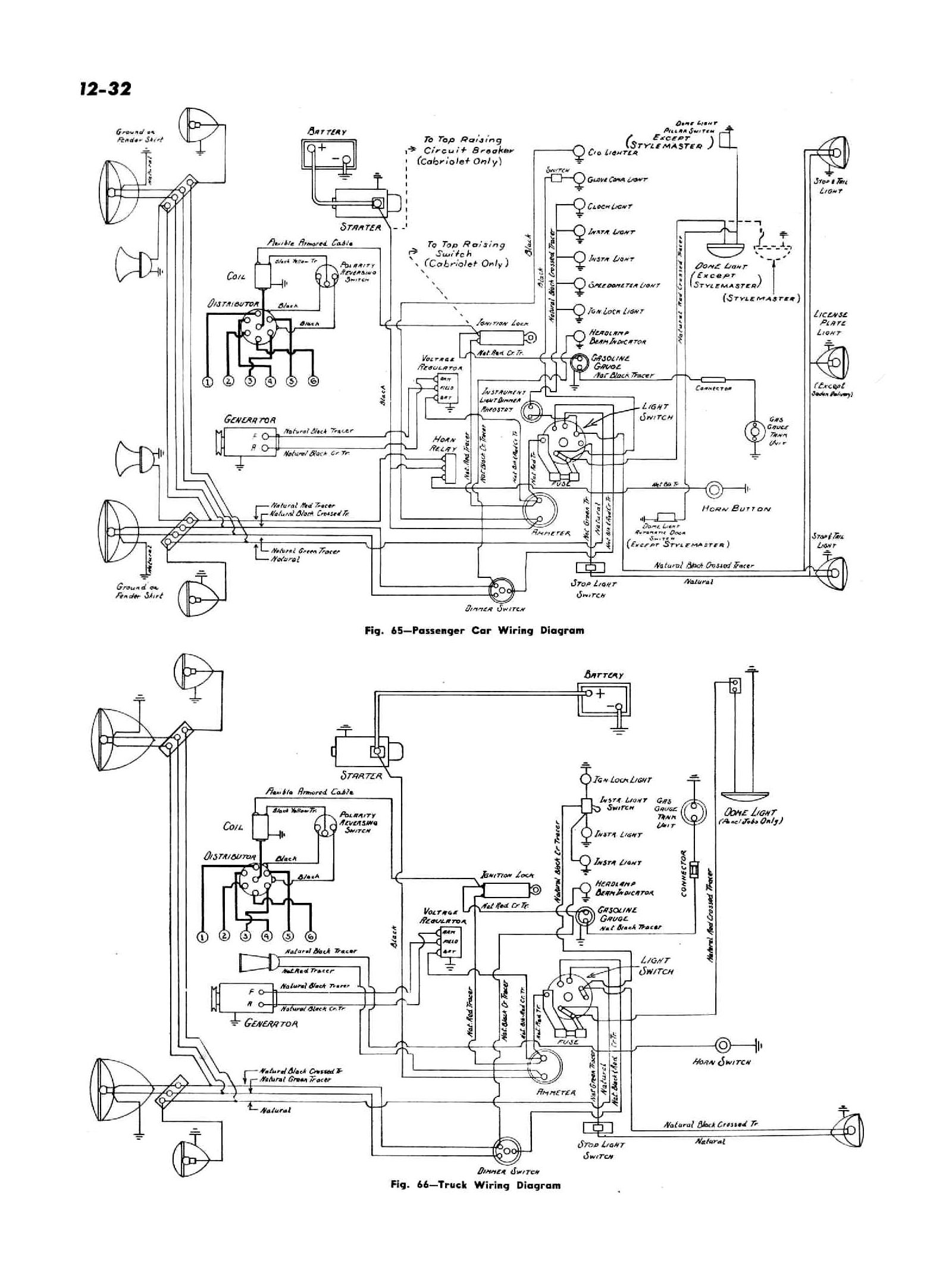 chevy wiring diagrams Prestolite Voltage Regulator Wiring 1947 passenger car truck wiring