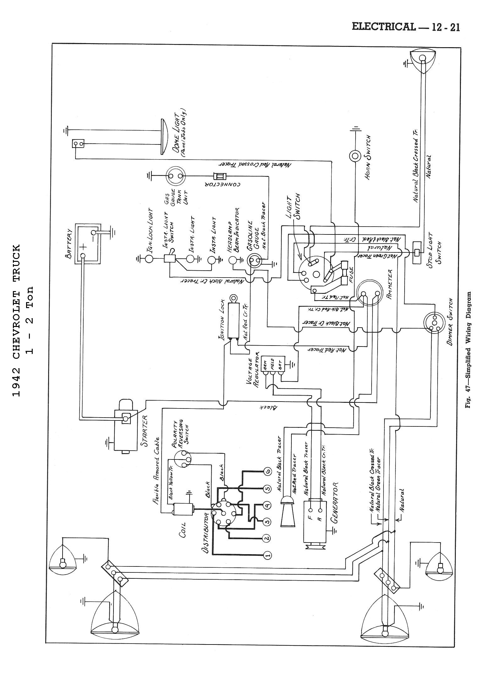 chevy wiring diagrams 1942 body wiring diagram · 1942 4x2 truck wiring