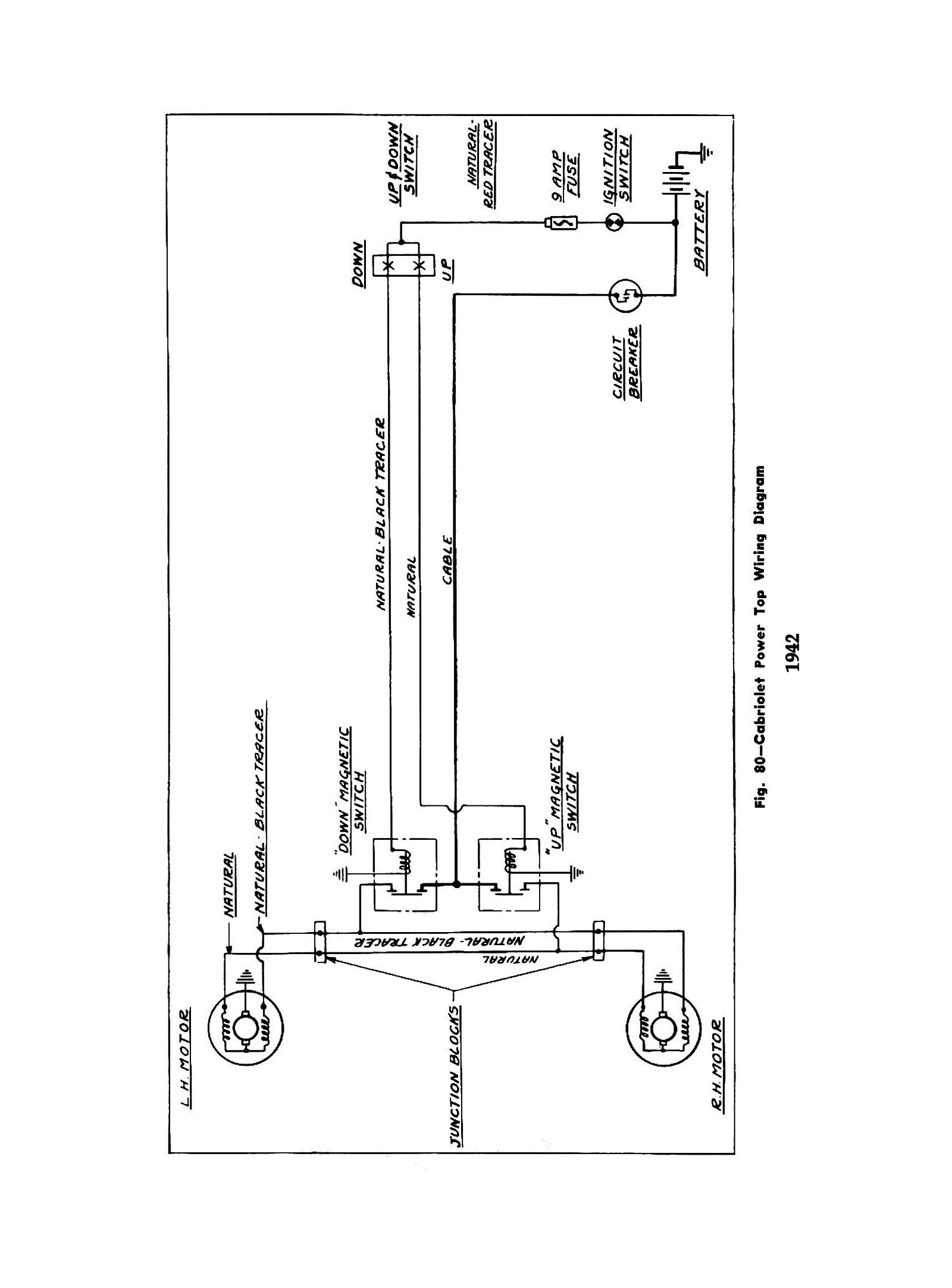 1942 Truck Wiring · 1942 Cabriolet Power Top Wiring