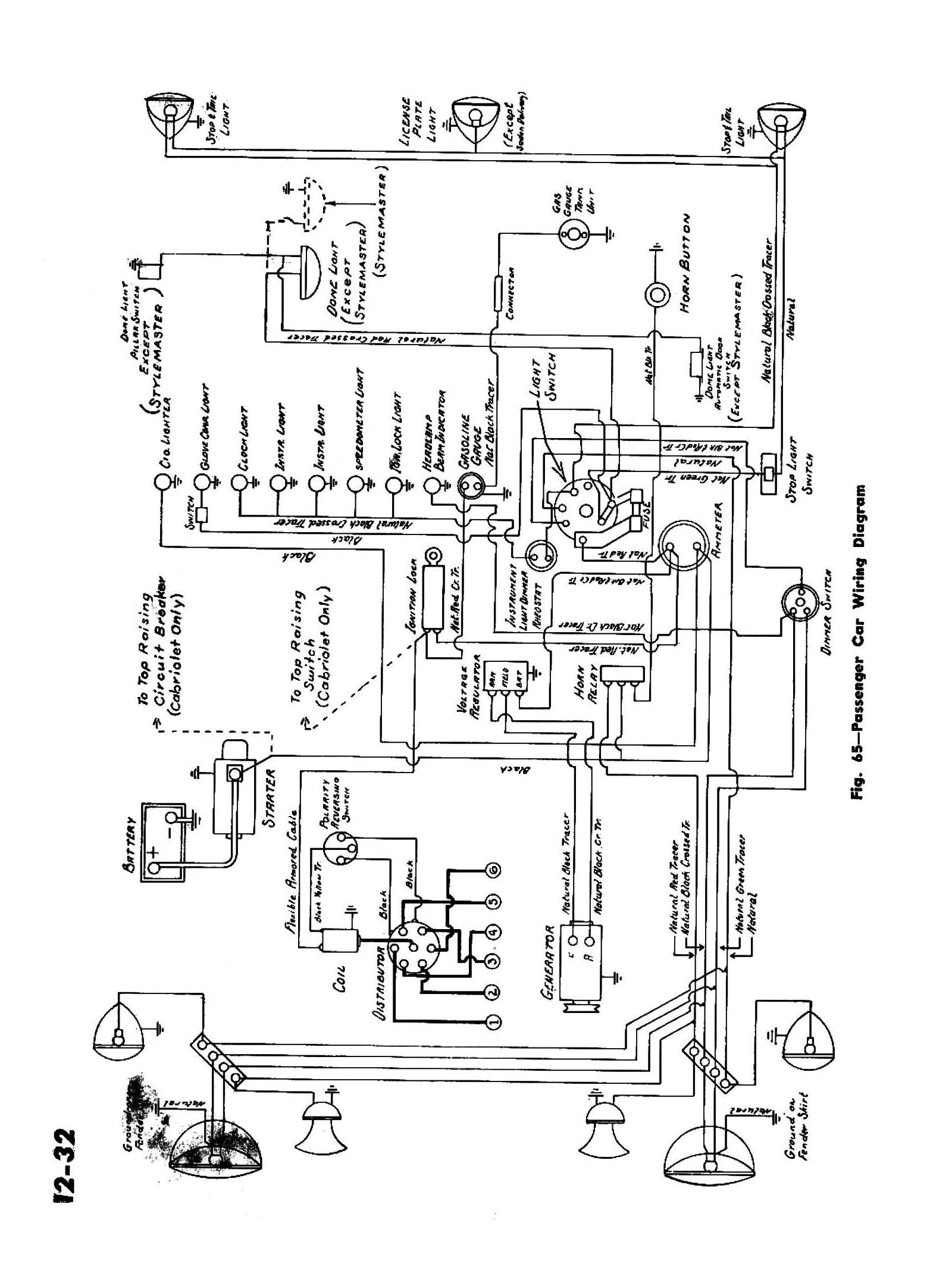 Chevy Wiring Diagrams Diagram In Addition 3 Wire Condenser Fan Motor 1945 Passenger Car