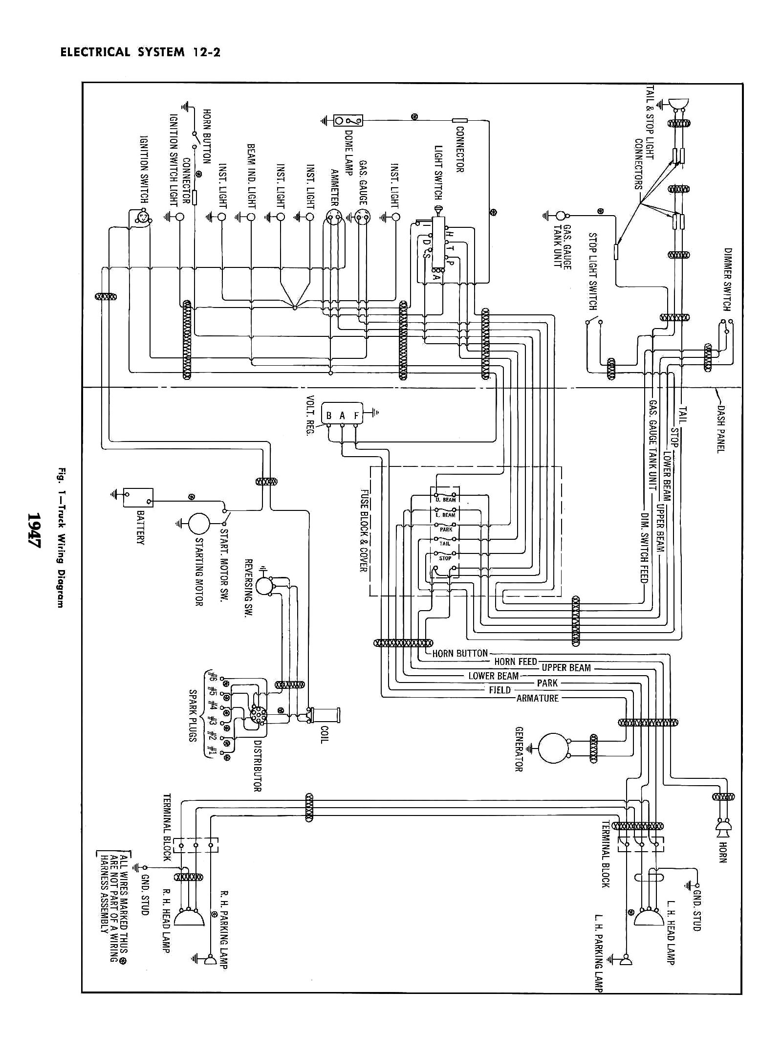 Chevy Wiring Diagrams 2 Switched Schematics 1947 Truck