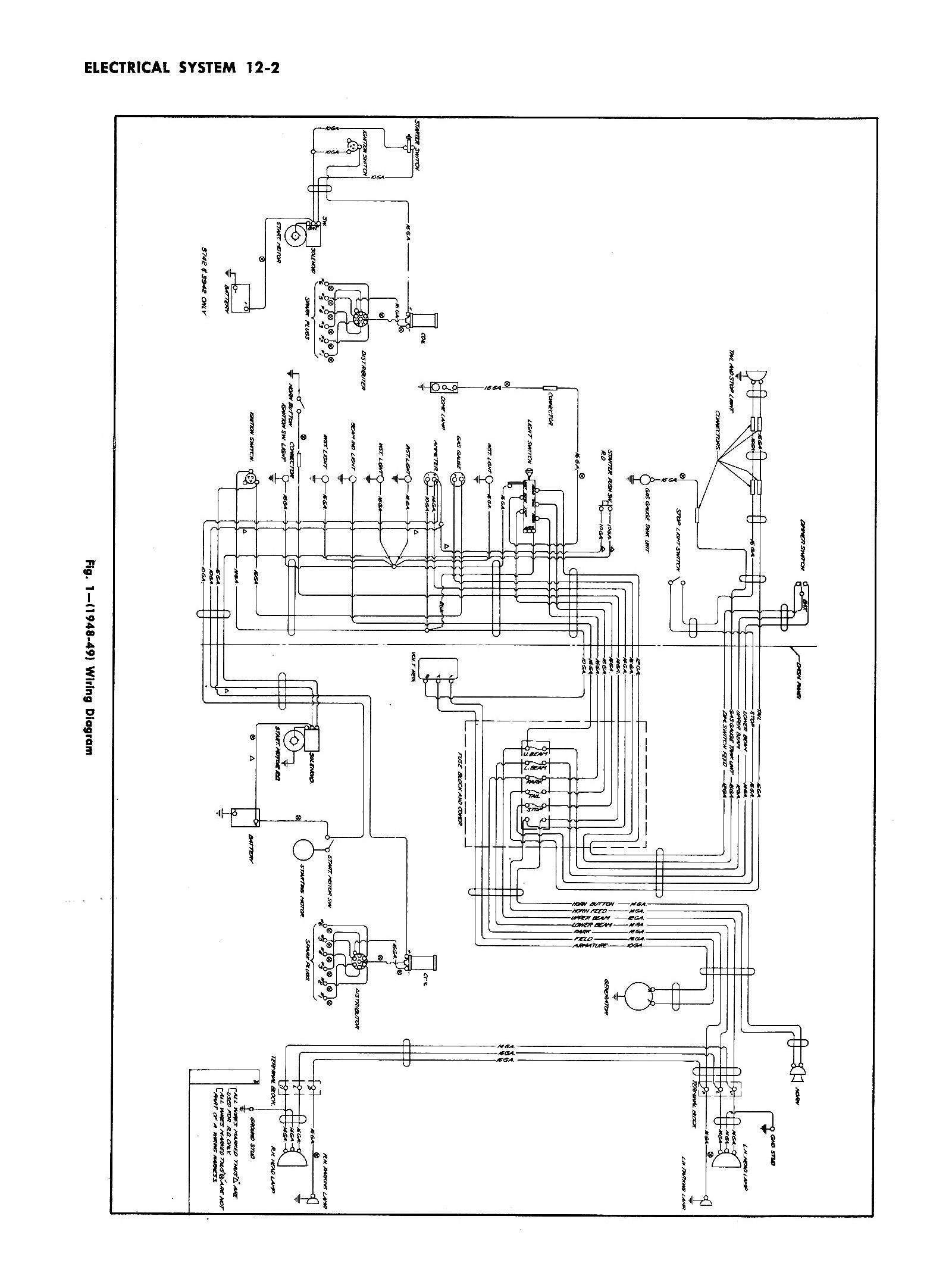 Chevy Wiring Diagrams Automobile 1949 Car Truck