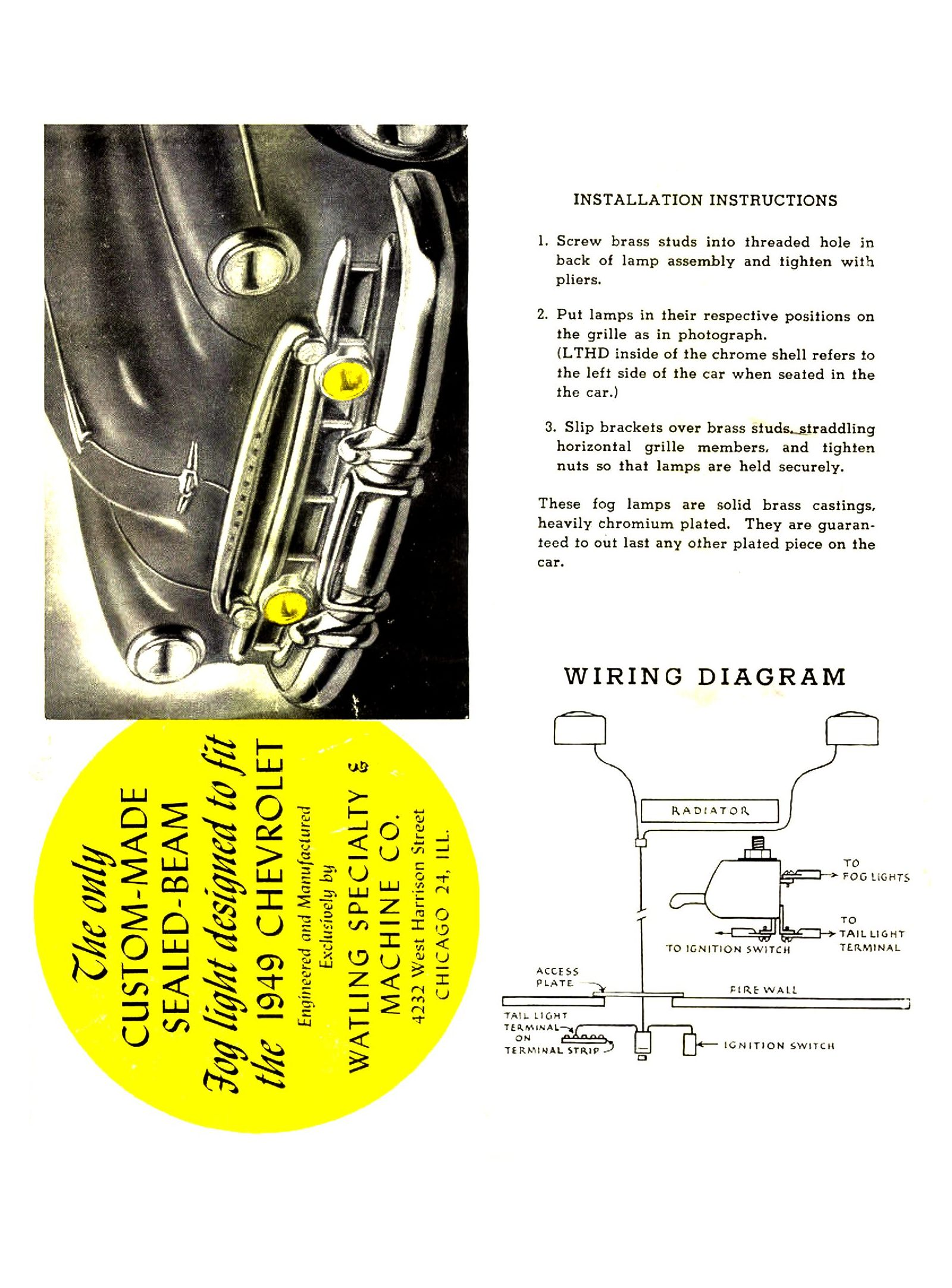 Chevy Wiring Diagrams Auto Fog Light Diagram 1949 Lamp