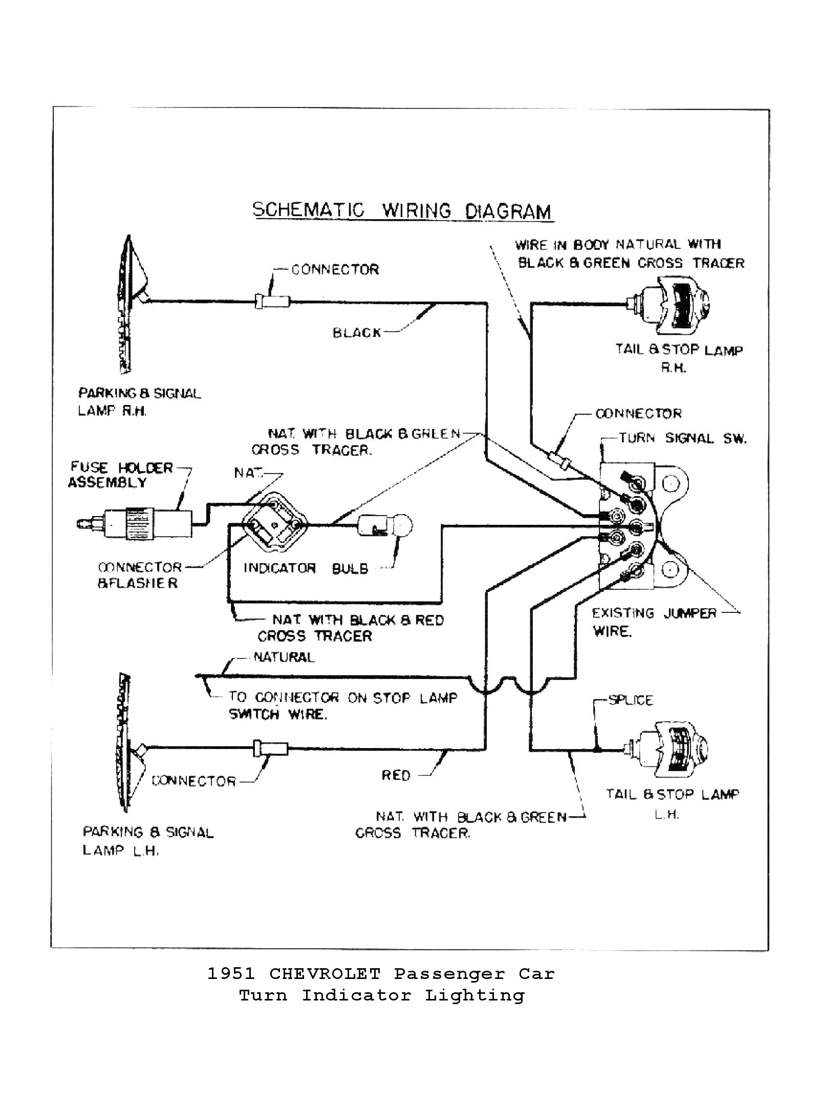 Chevy Wiring Diagrams Truck Trailer Light Diagram 1951 Directional Signals