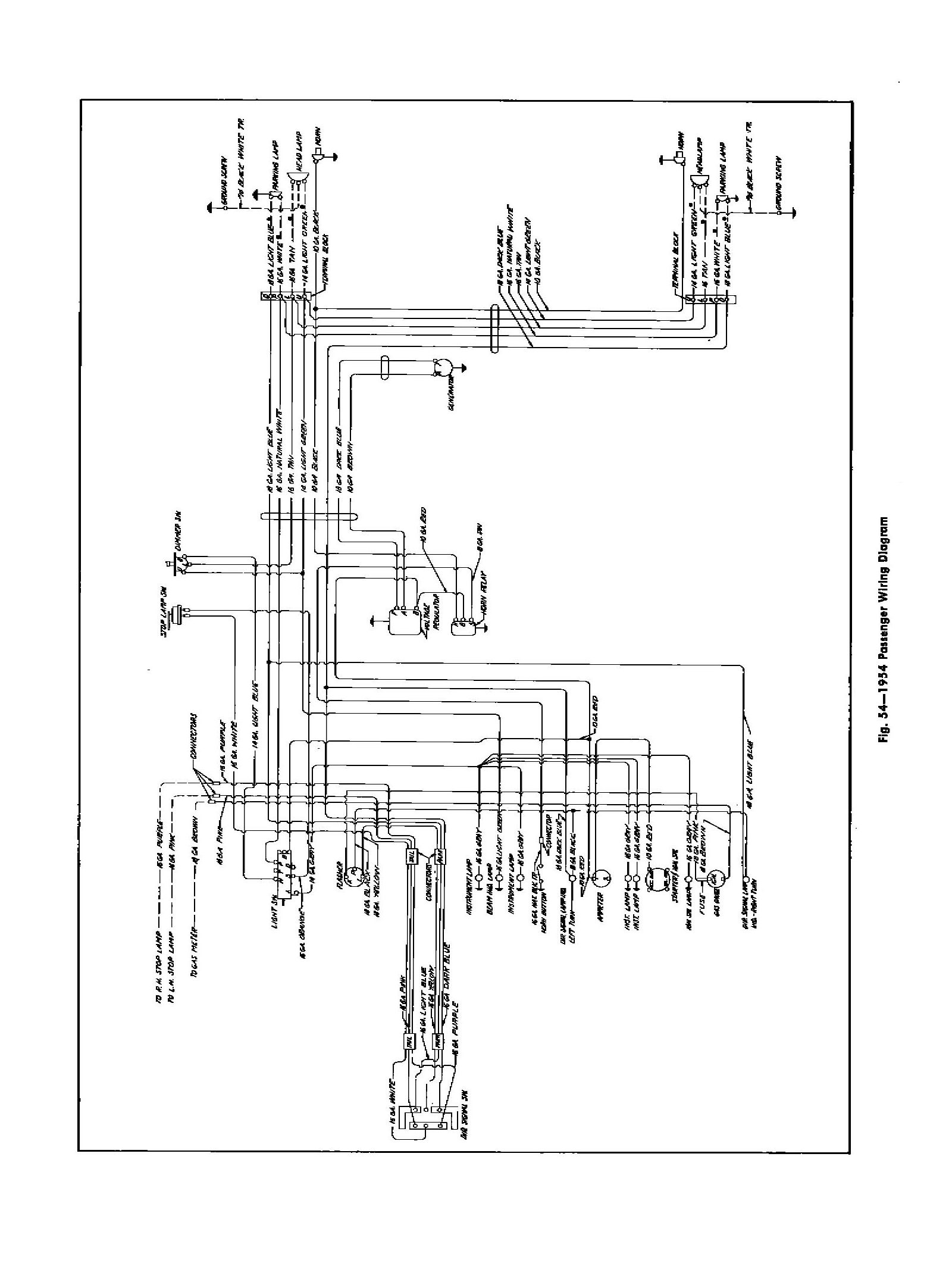 54car1 chevy wiring diagrams Basic Circuit Schematics at mifinder.co