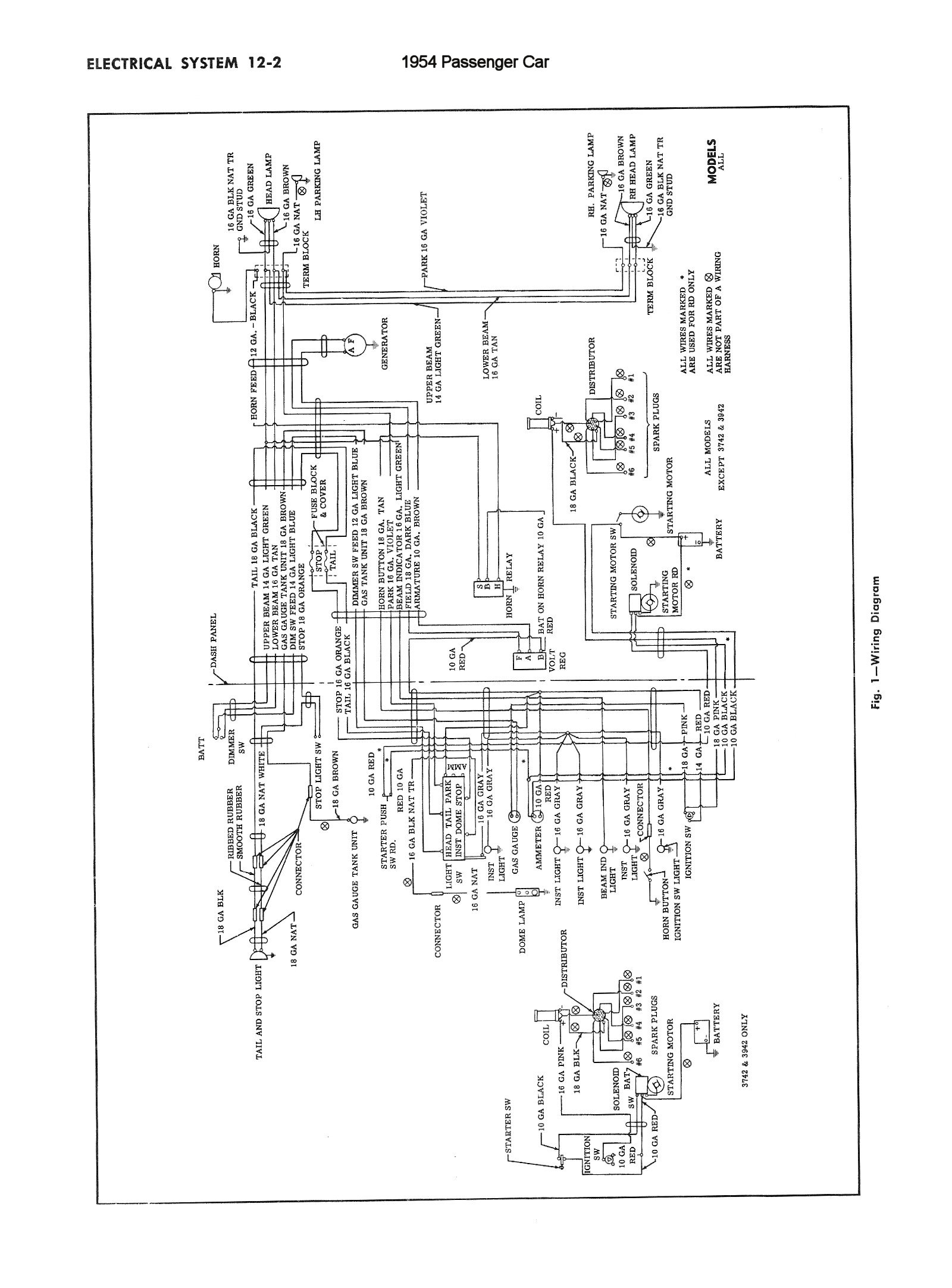 Home Wiring In 1954 Circuit Diagram Symbols Waterfall Trusted Schematics Diagrams Chevy Rh Oldcarmanualproject Com Codes