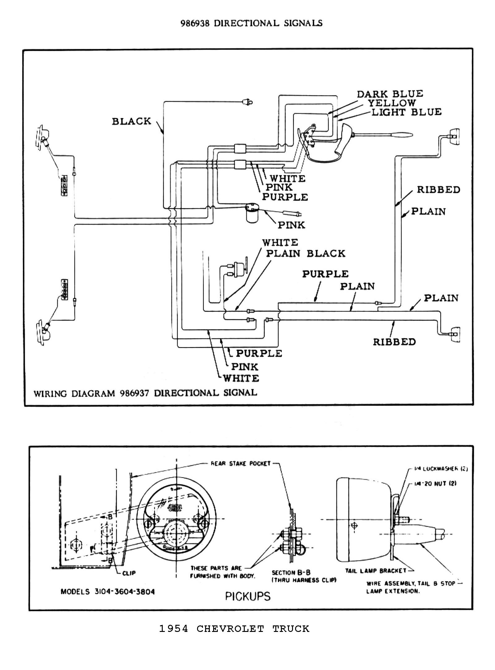 wiring diagram for motorcycle turn signals wiring diagram signals 54 chevy 3100 headlight headache - the stovebolt forums