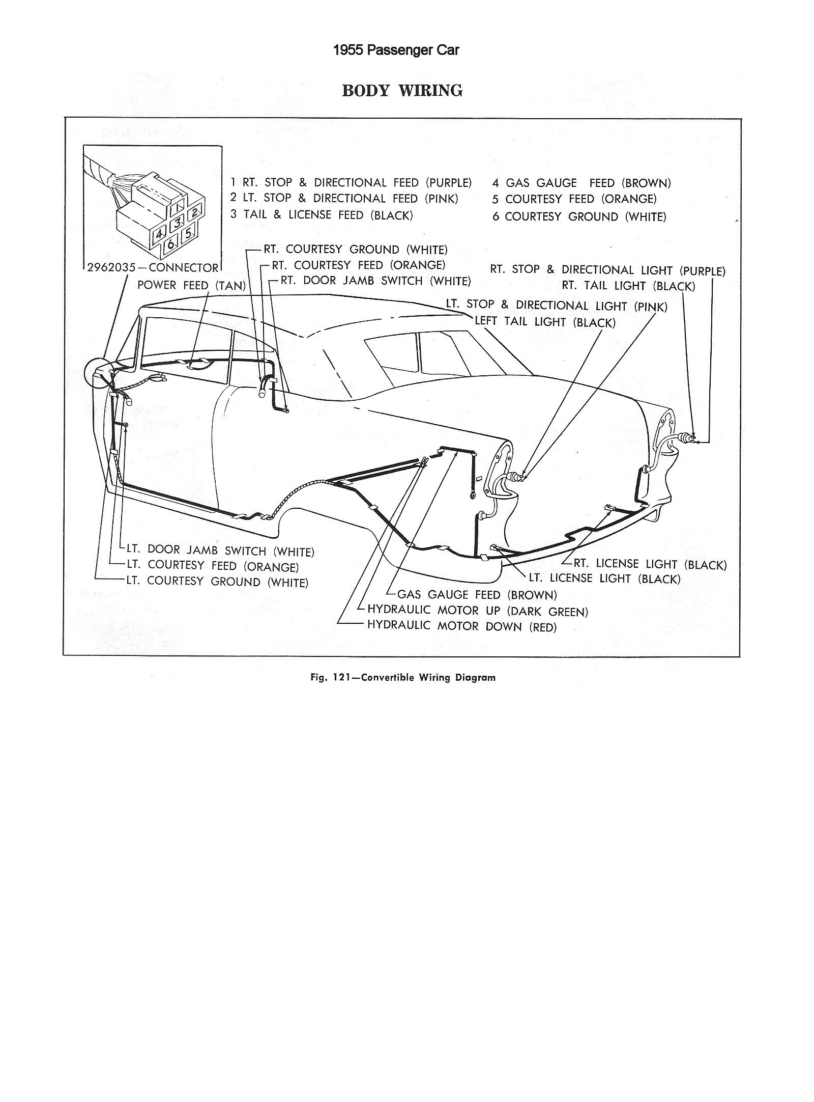 Chevy Wiring Diagrams Car Hydraulics Diagram 1955 Passenger Body