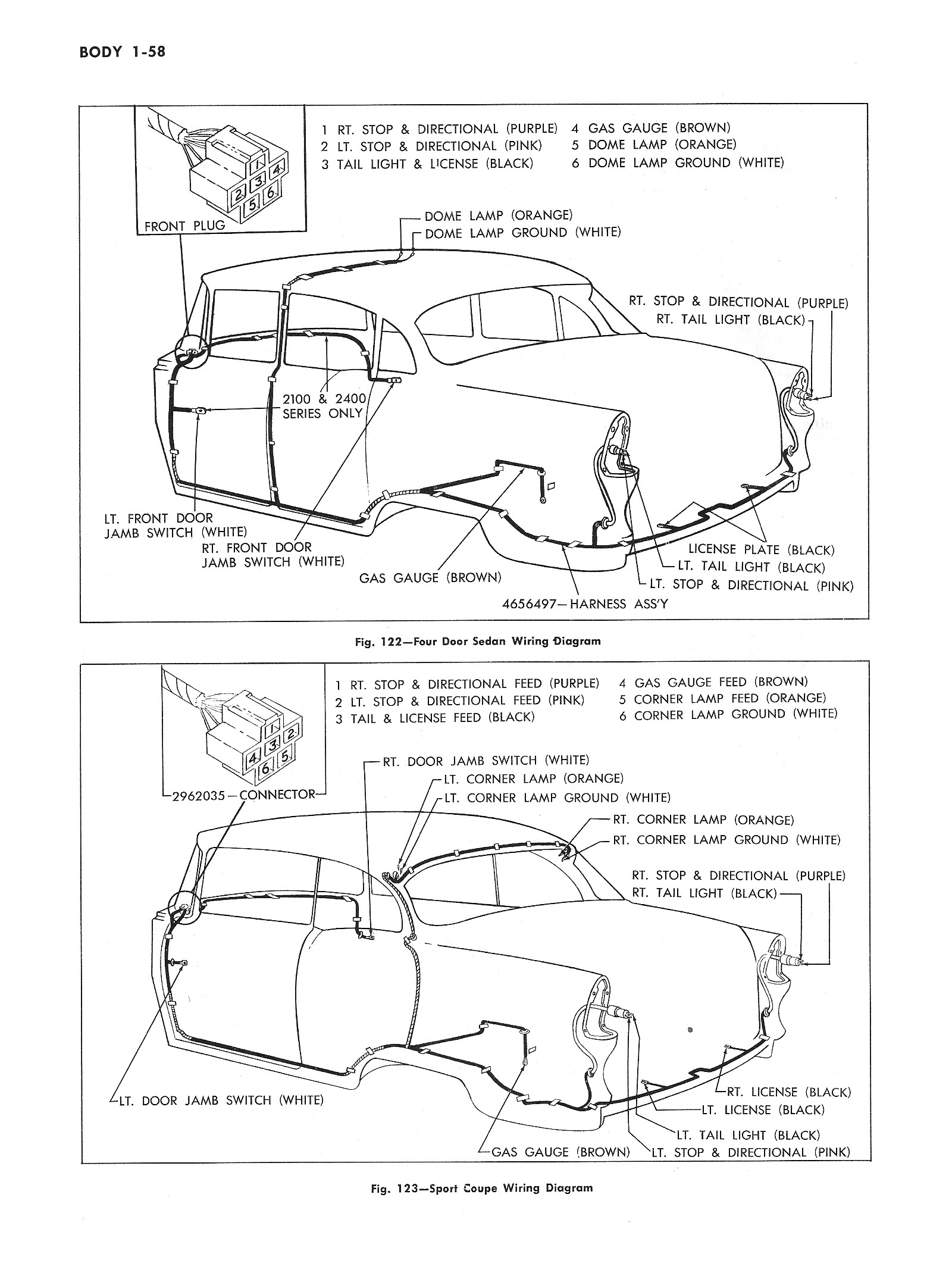 chevy wiring diagrams 1956 Chrysler Tail Lights 1955 car body wiring 2