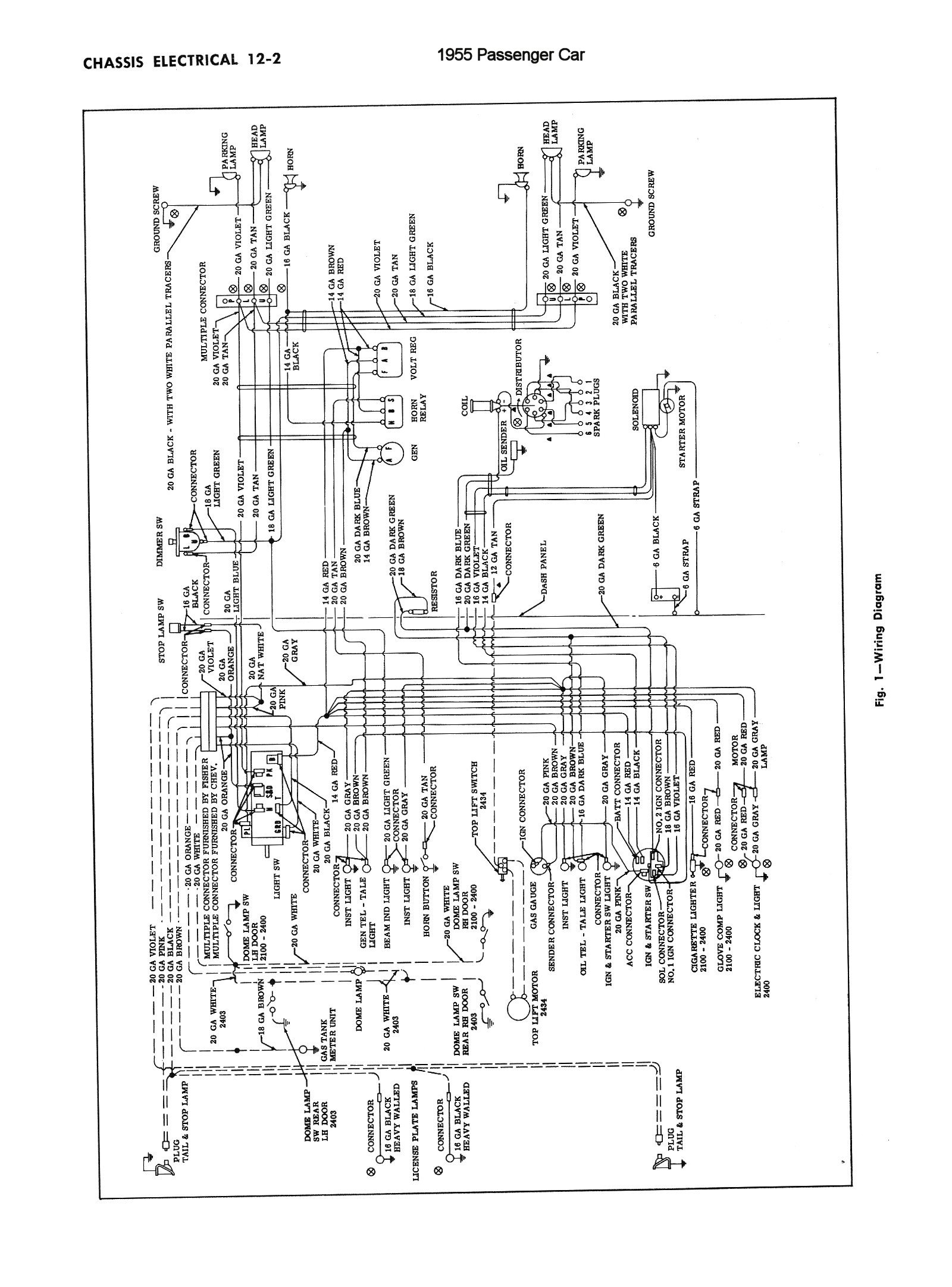 Chevy Wiring Diagrams Electrical 1955 Car Chassis