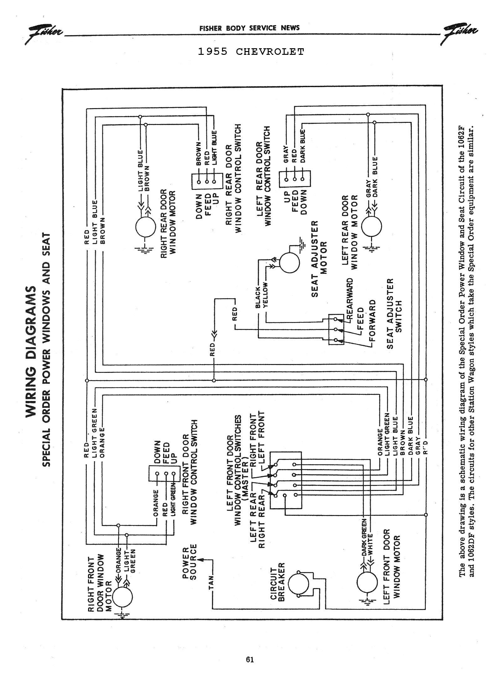 Chevy Wiring Diagrams The Schematic Diagram Of Traffic Light Circuit In Update Version 1955 Power Windows Seats Overdrive