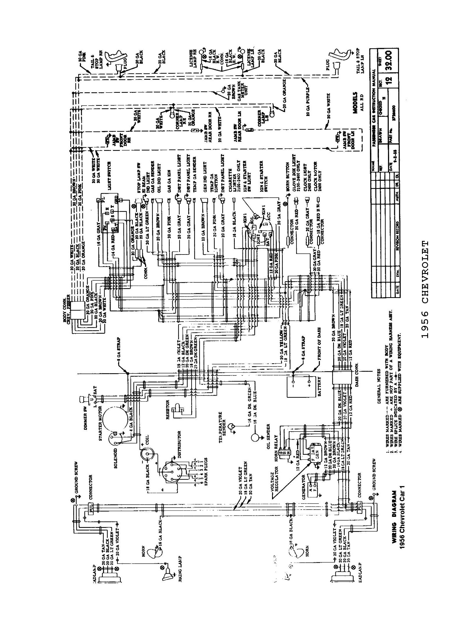 1956 Chevy Headlight Wiring Diagram Data 3 Prong Diagrams Plug