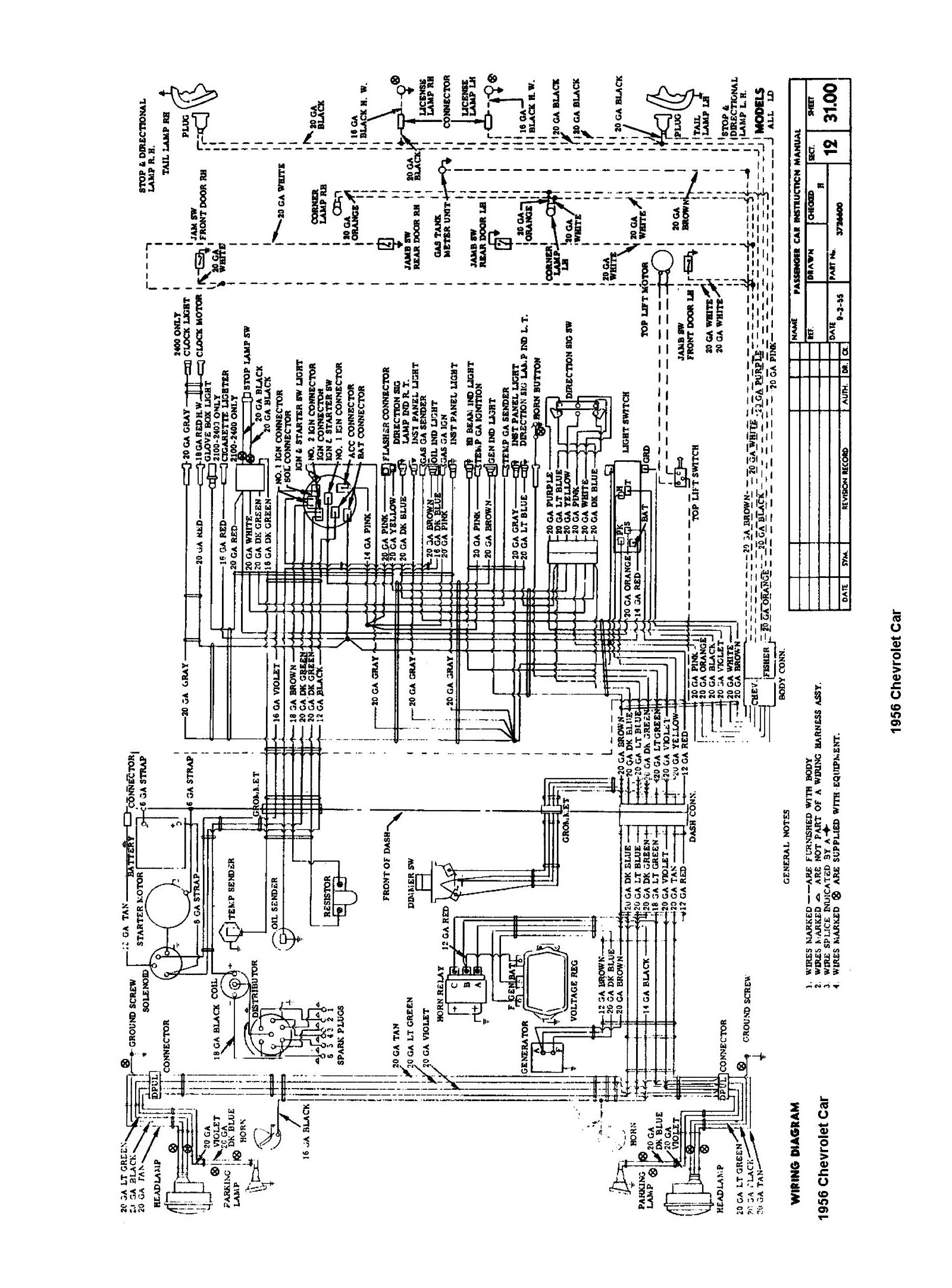 wiring diagram for 1955 chevy bel air ireleast info 1956 chevy pickup wiring diagram 1956 wiring diagrams wiring diagram