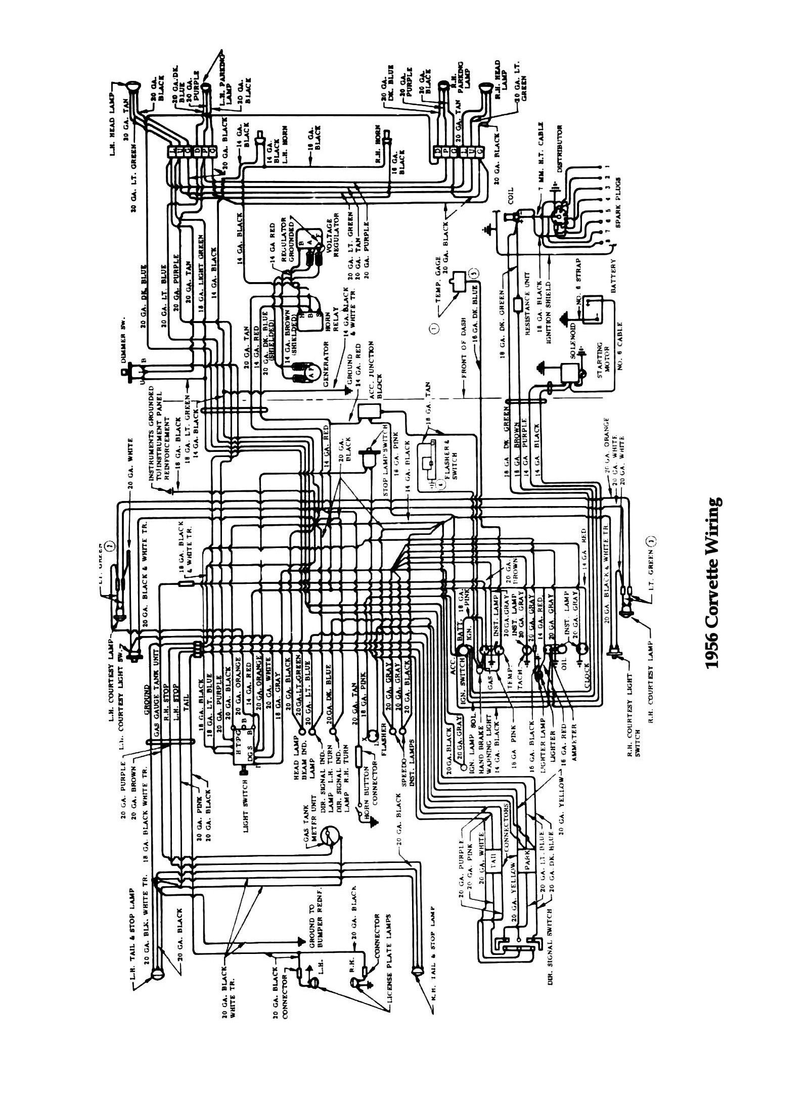 56corvette 1981 corvette wiring diagram corvette alternator wiring diagram 2000 C5 Corvette Wiring Diagram at gsmx.co