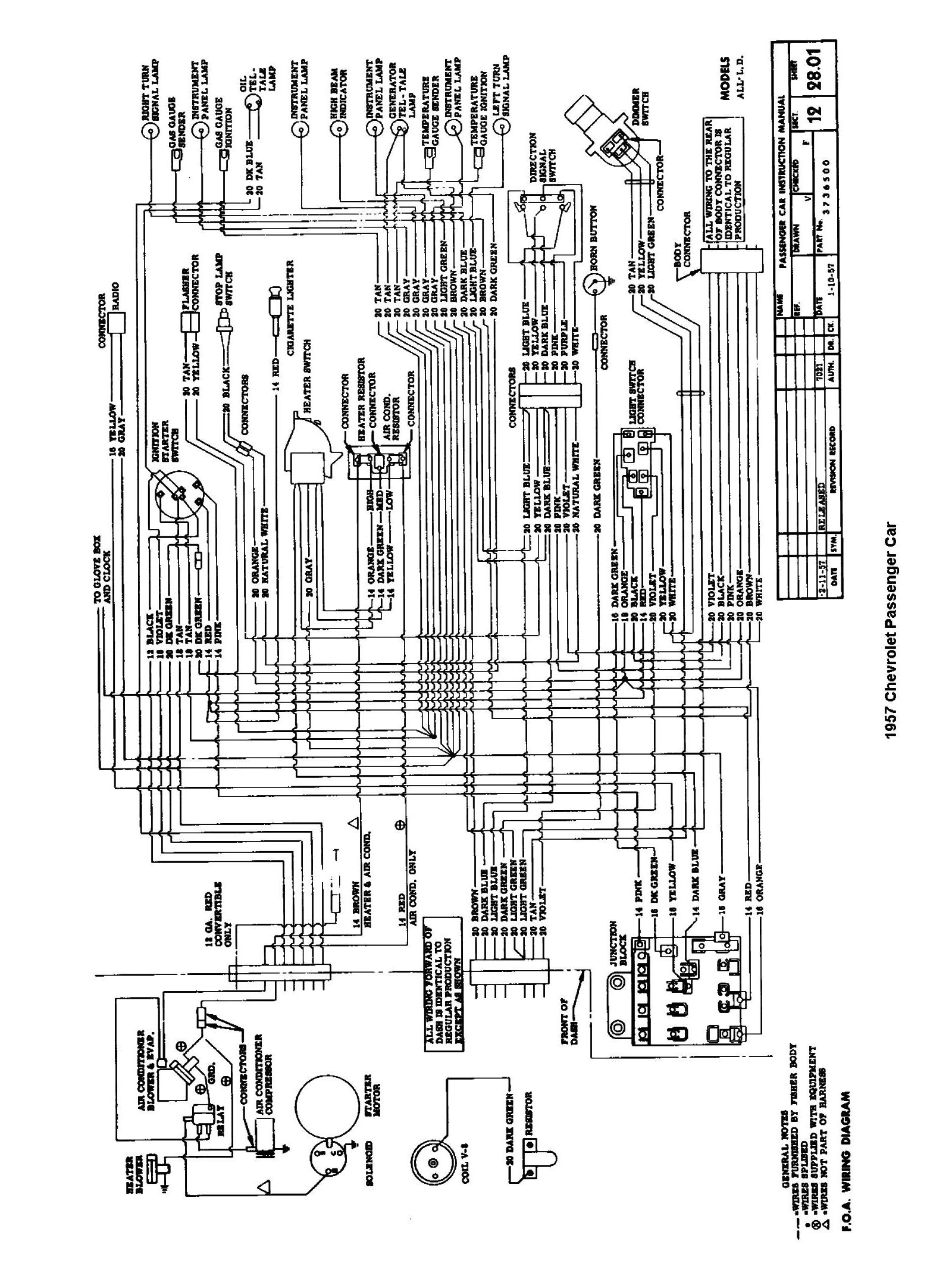 Chevy Wiring Diagrams Lighting Circuit Diagram 2 Way 1957 Passenger Car