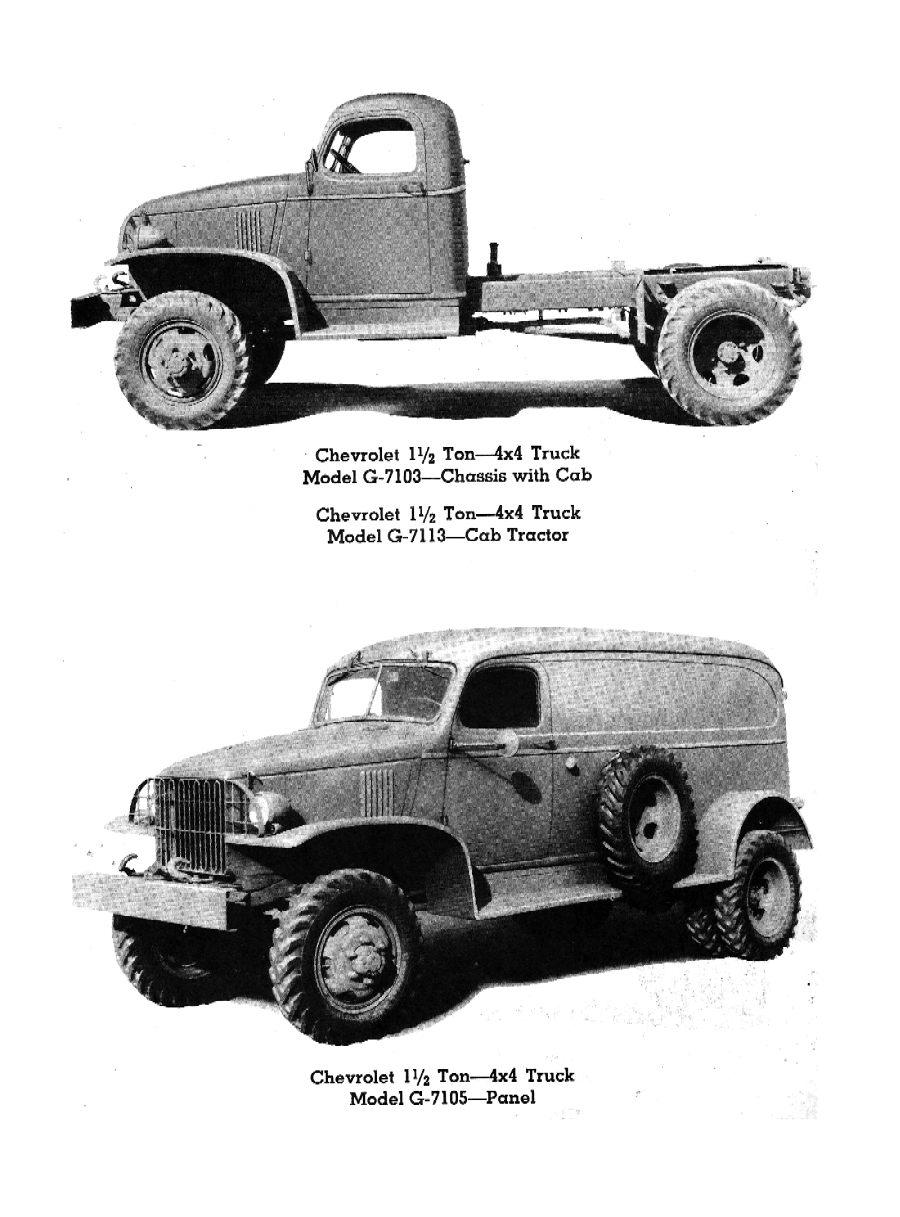 1945 - 1946 Chevrolet Trucks 1-1/2 Ton 4 x 4 (1943 - 1945