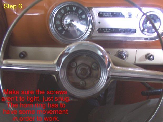 1954 Chevrolet Horn Button Assembly
