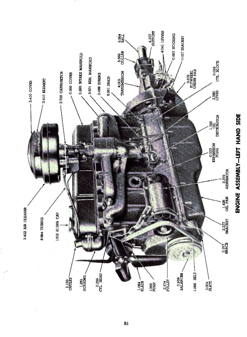 Flathead drawings electrical furthermore Ca9dm additionally 085 together with Chevrolet Truck Parts Front Axle Schematics in addition Rebuilt Dana Differential. on 1954 chevy parts catalog