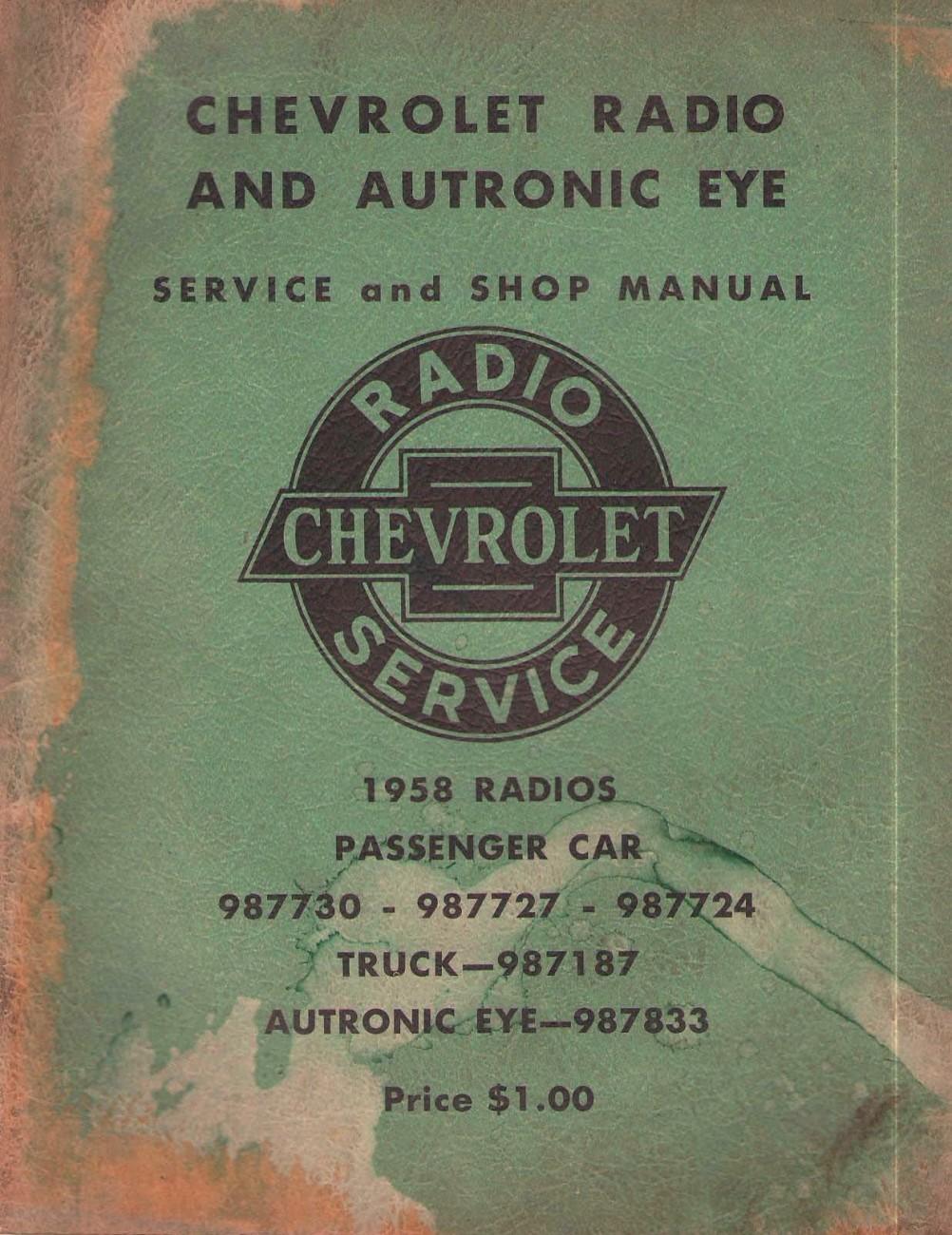 1958 chevrolet radio and autronic eye service and shop manualAutronic Eye Circuit Diagram Of 1958 Chevrolet #15