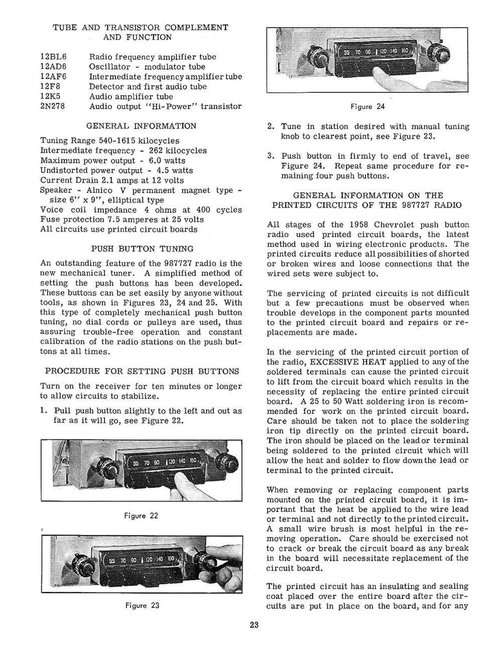 Snap Old Chevrolet Radio Information Online Chevy Manuals Autronic Eye Circuit Diagram For The 1960 Passenger Car 1958 And Service Shop Manual