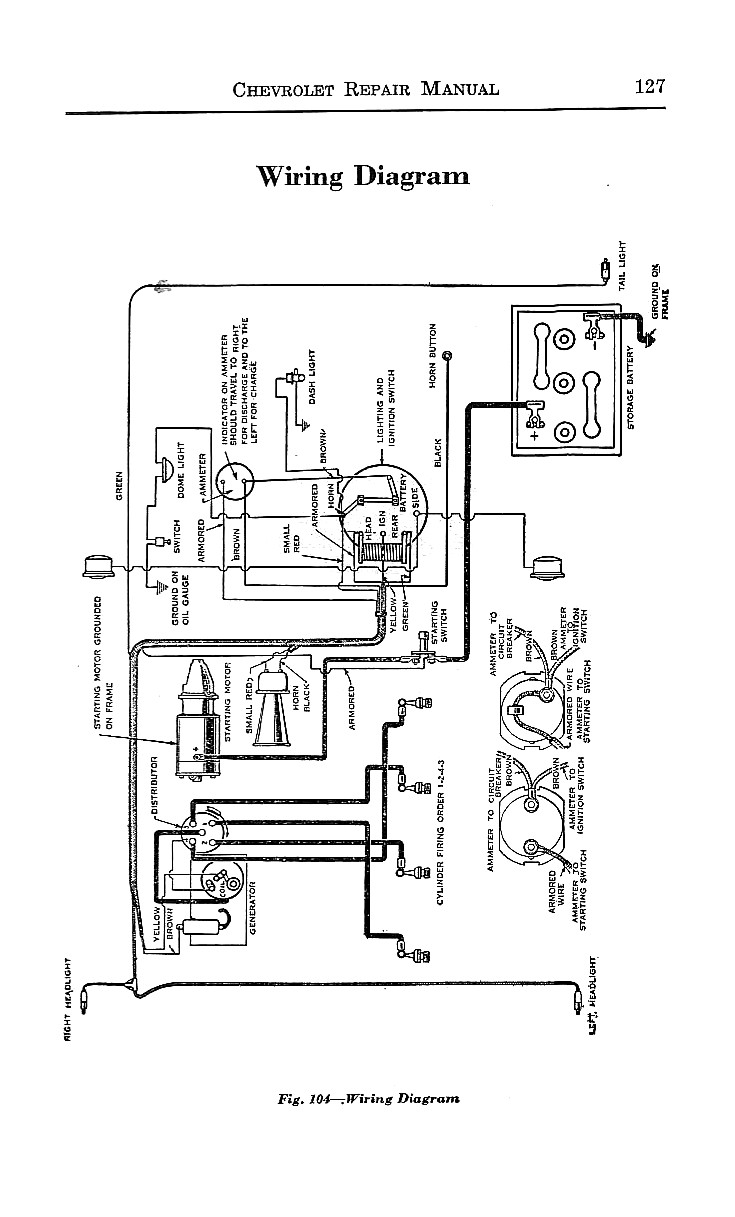 Complete Wireing Diagram Available For A 1924 Buick 4 Cylinder