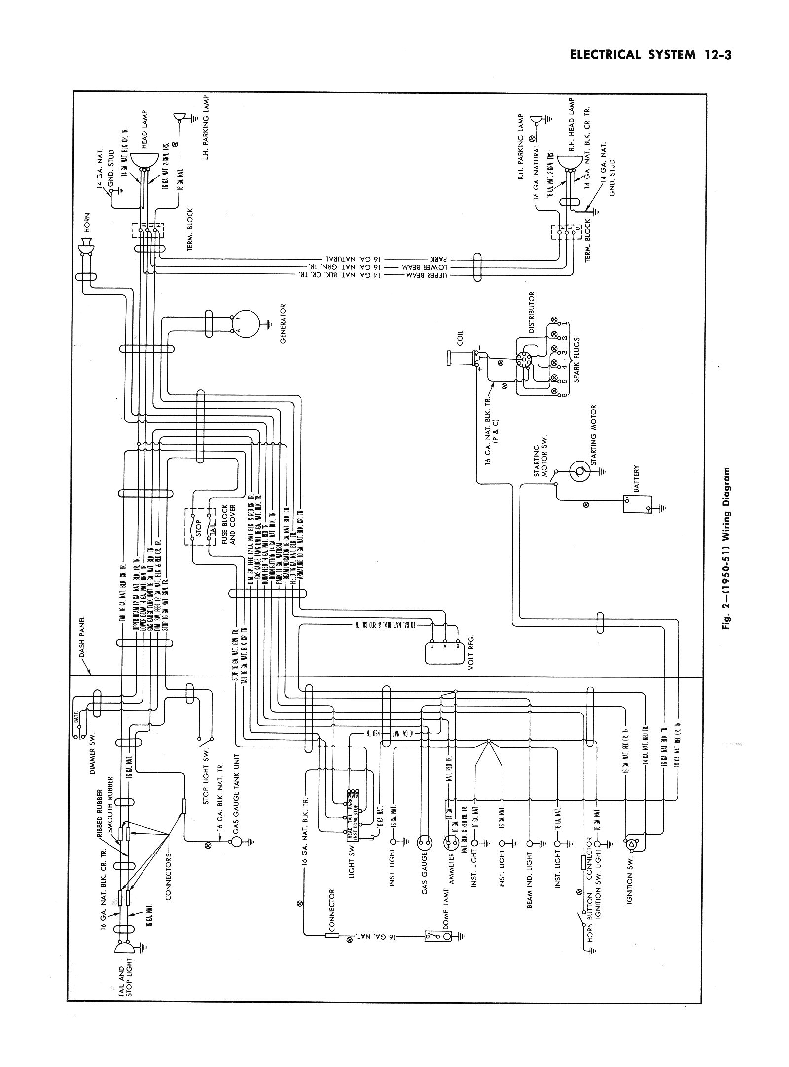 wiring chart for typical 50 u0026 39 s truck
