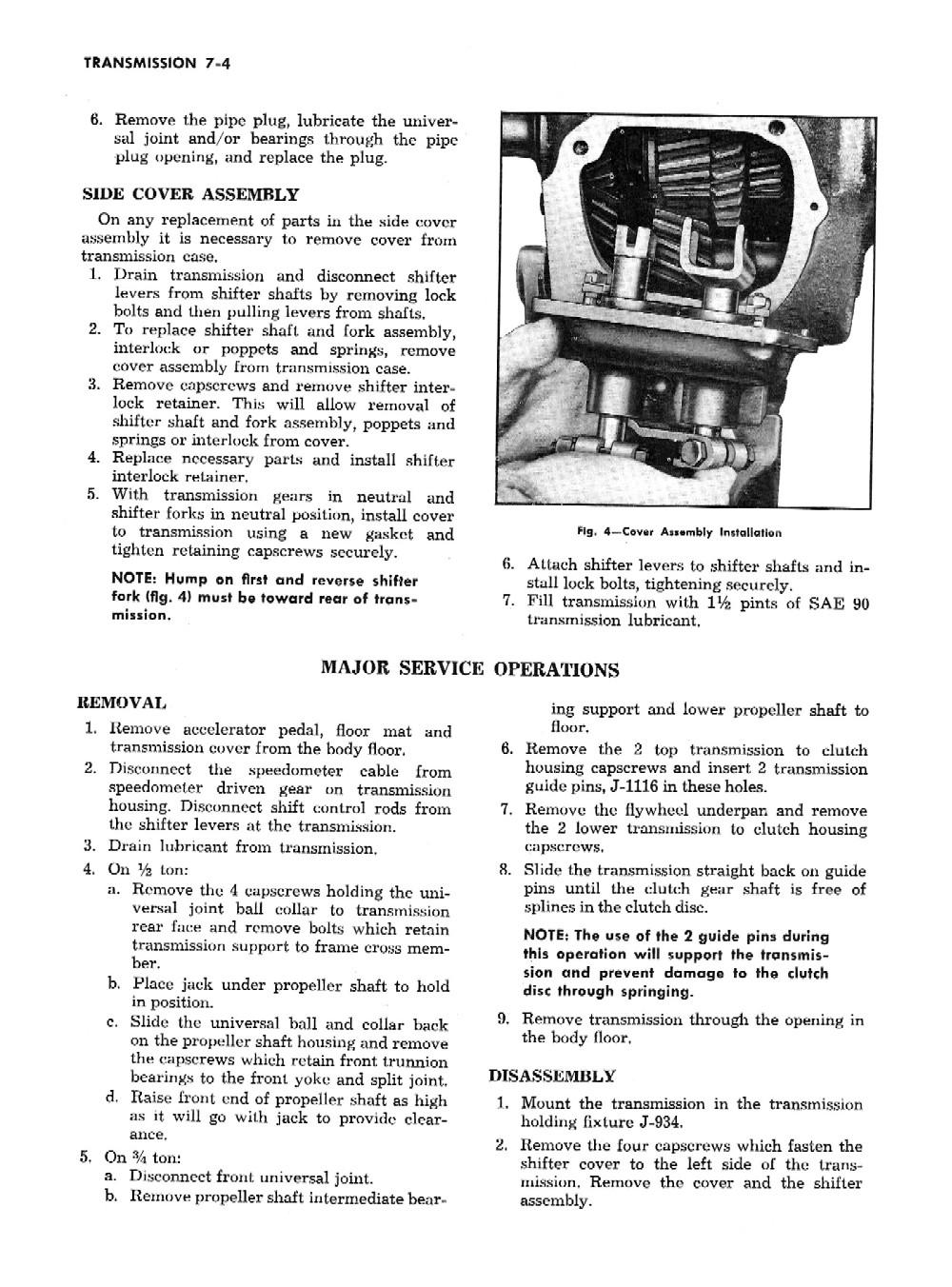 1954 chevrolet truck shop manual
