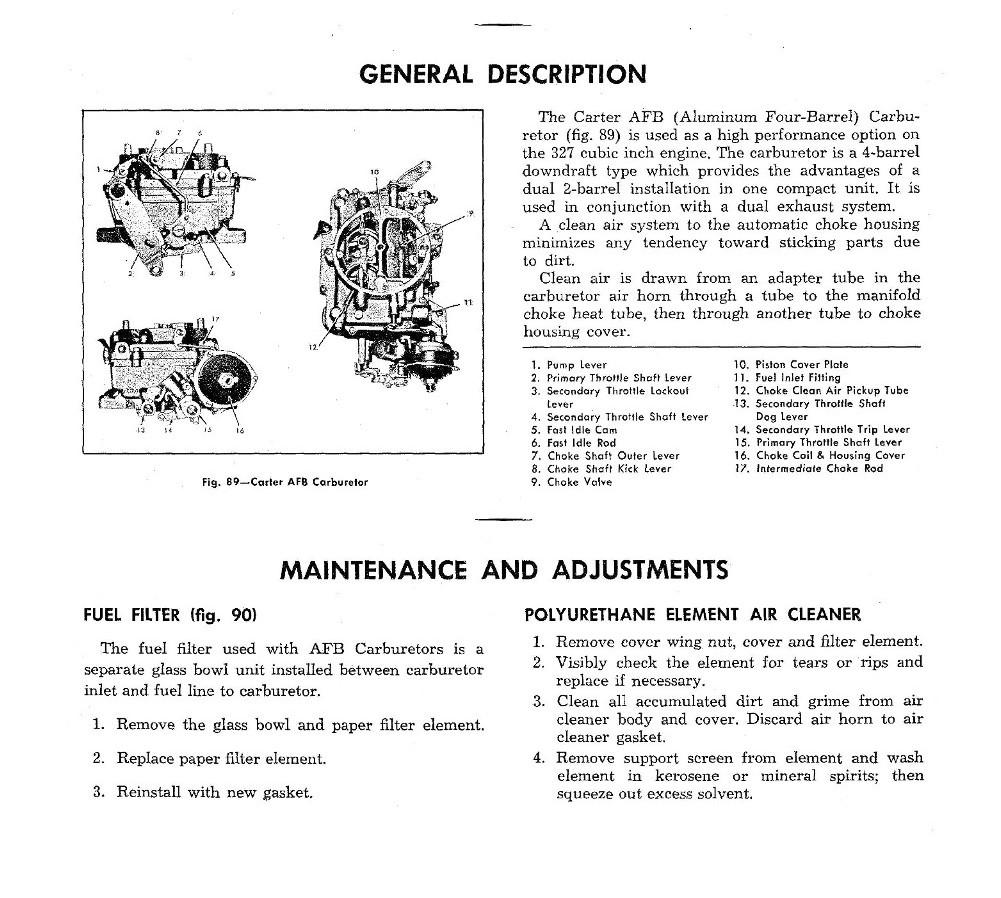 1953 1962 Corvette Servicing Guide St 12 Fuel Filter Location